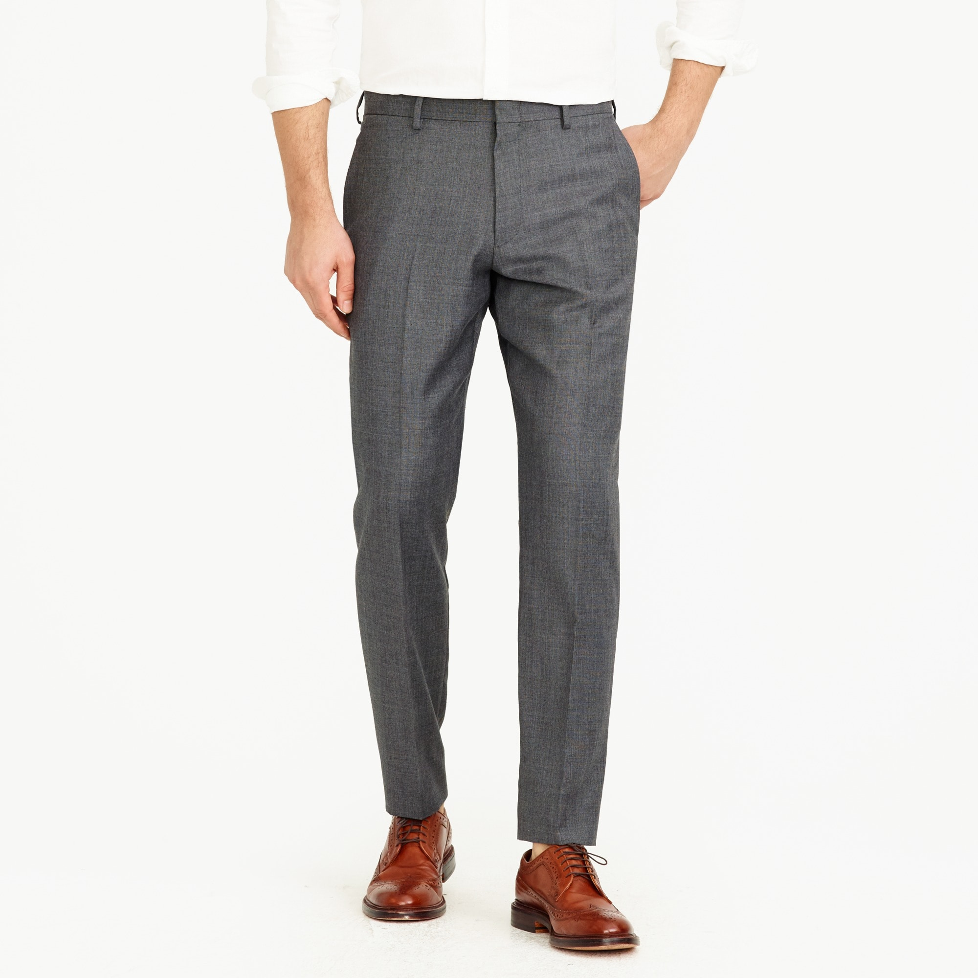 crosby suit pant in italian worsted wool : men's suits