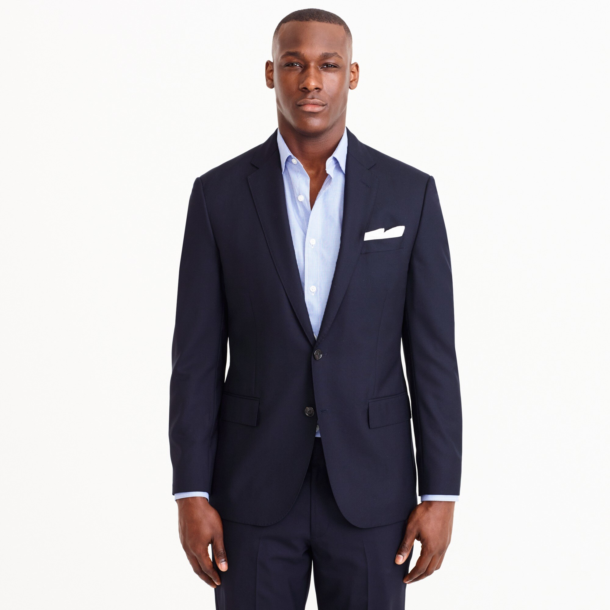 men's ludlow classic-fit suit jacket with center vent in italian wool - men's suiting