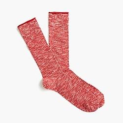 Slub marled socks
