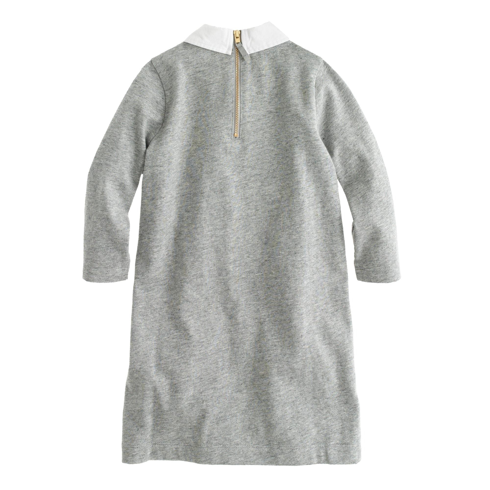 Girls' collared sweatshirt dress