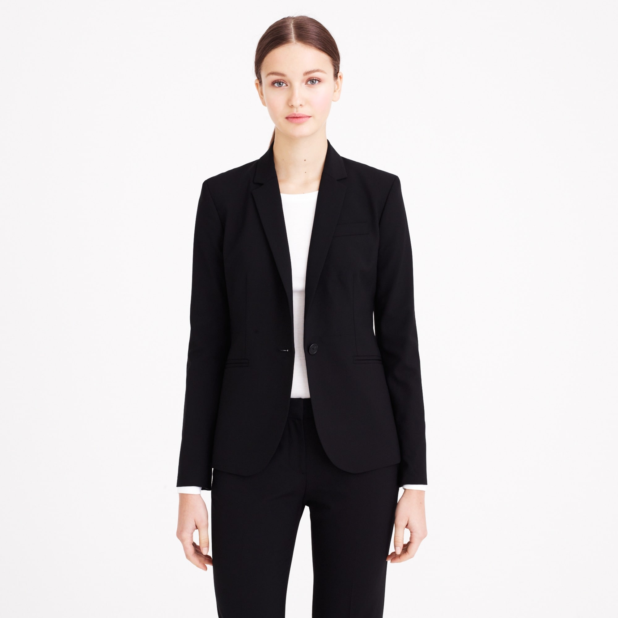 Tall Campbell blazer in Italian stretch wool women suiting c