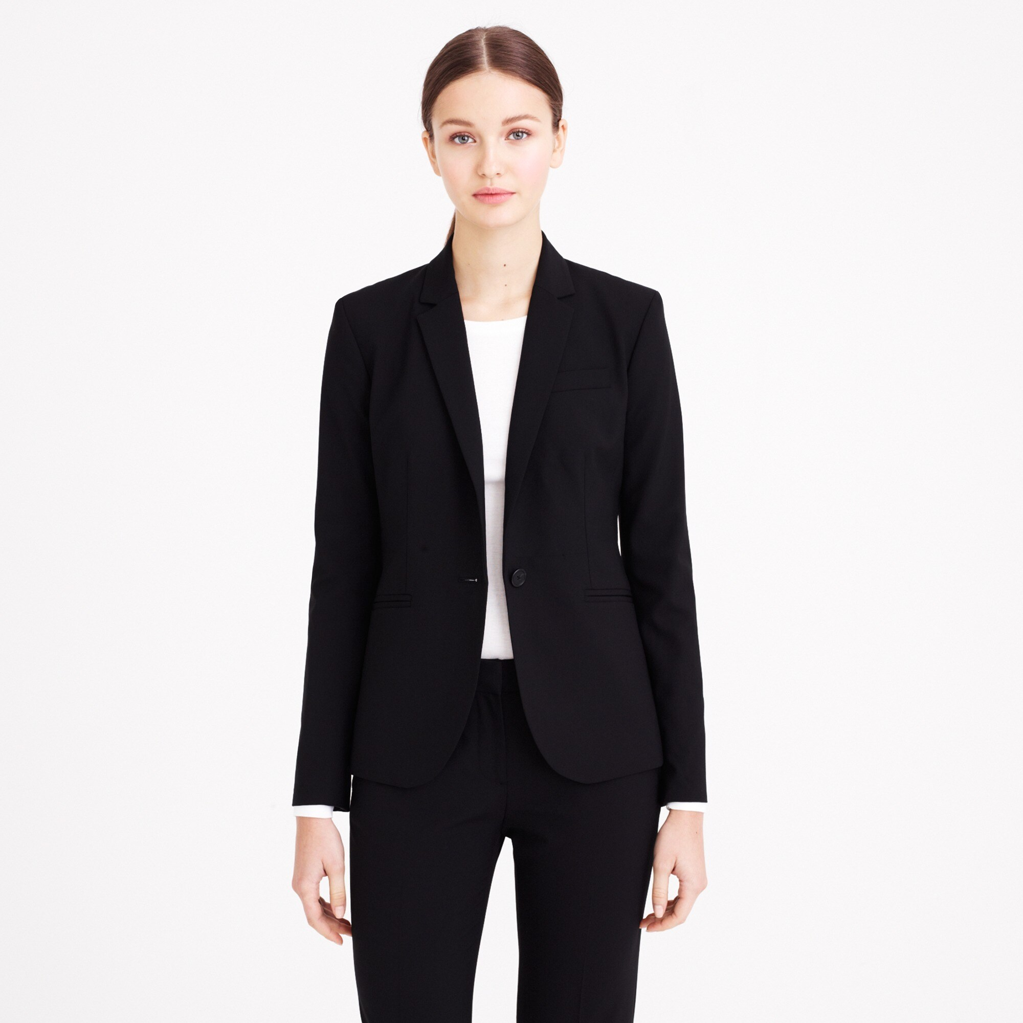 campbell blazer in italian stretch wool : women's blazers