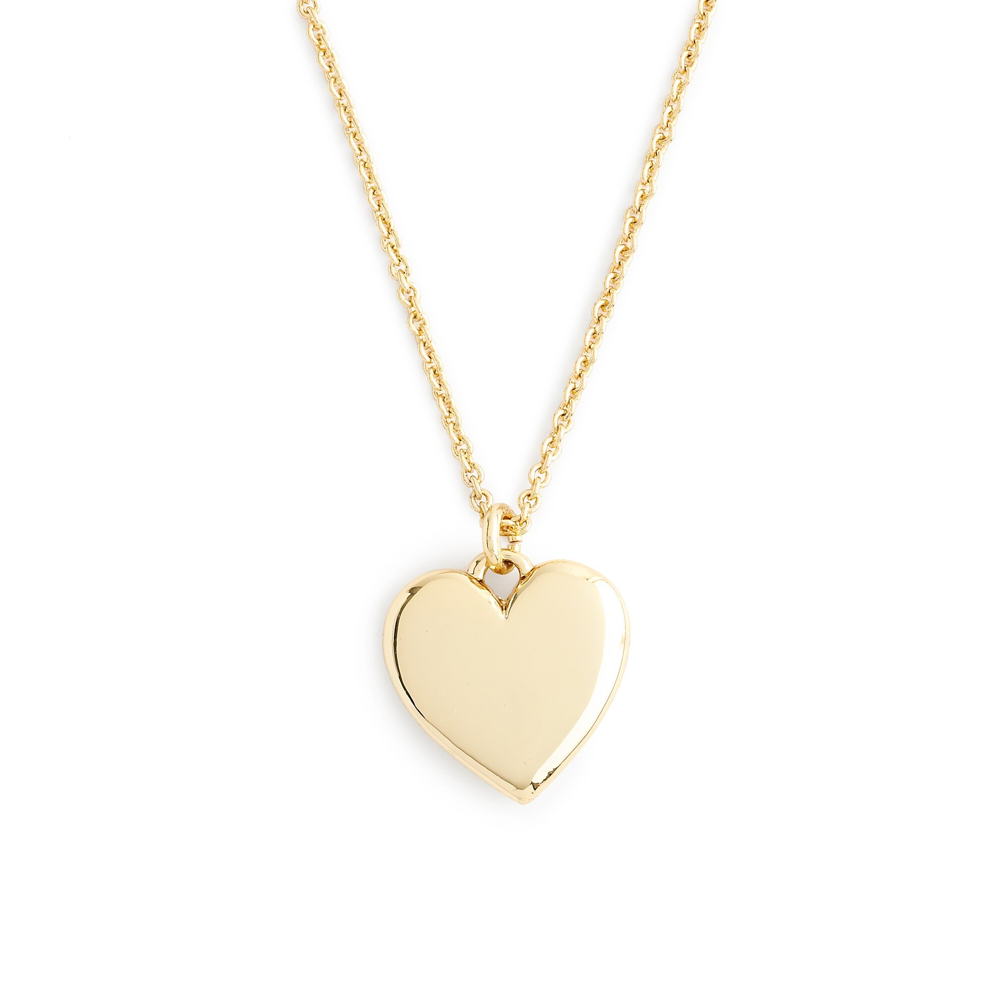 """14k gold heart charm necklace with 18 1/2"""" chain : women's necklaces"""