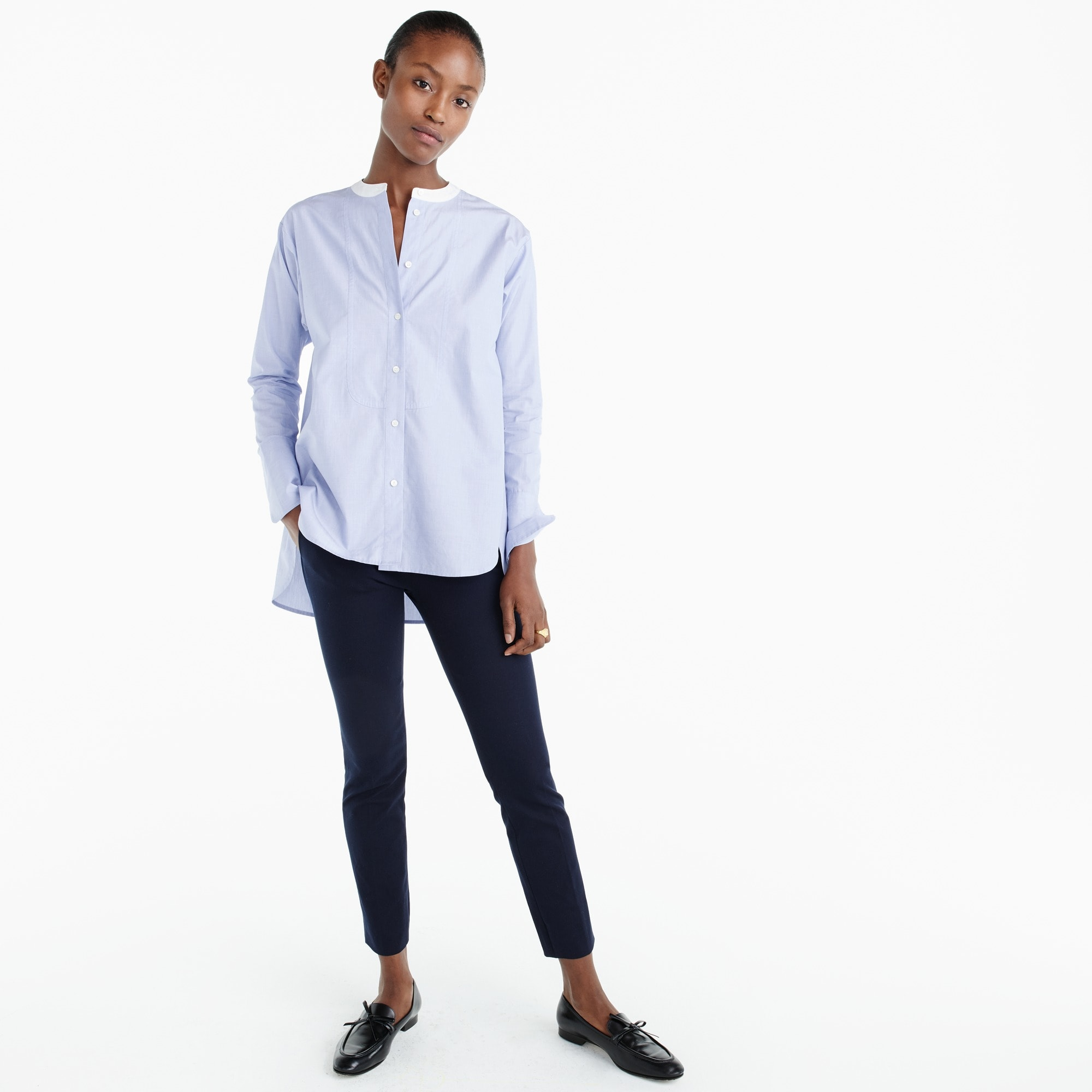 Image 4 for Thomas Mason® for J.Crew collarless shirt