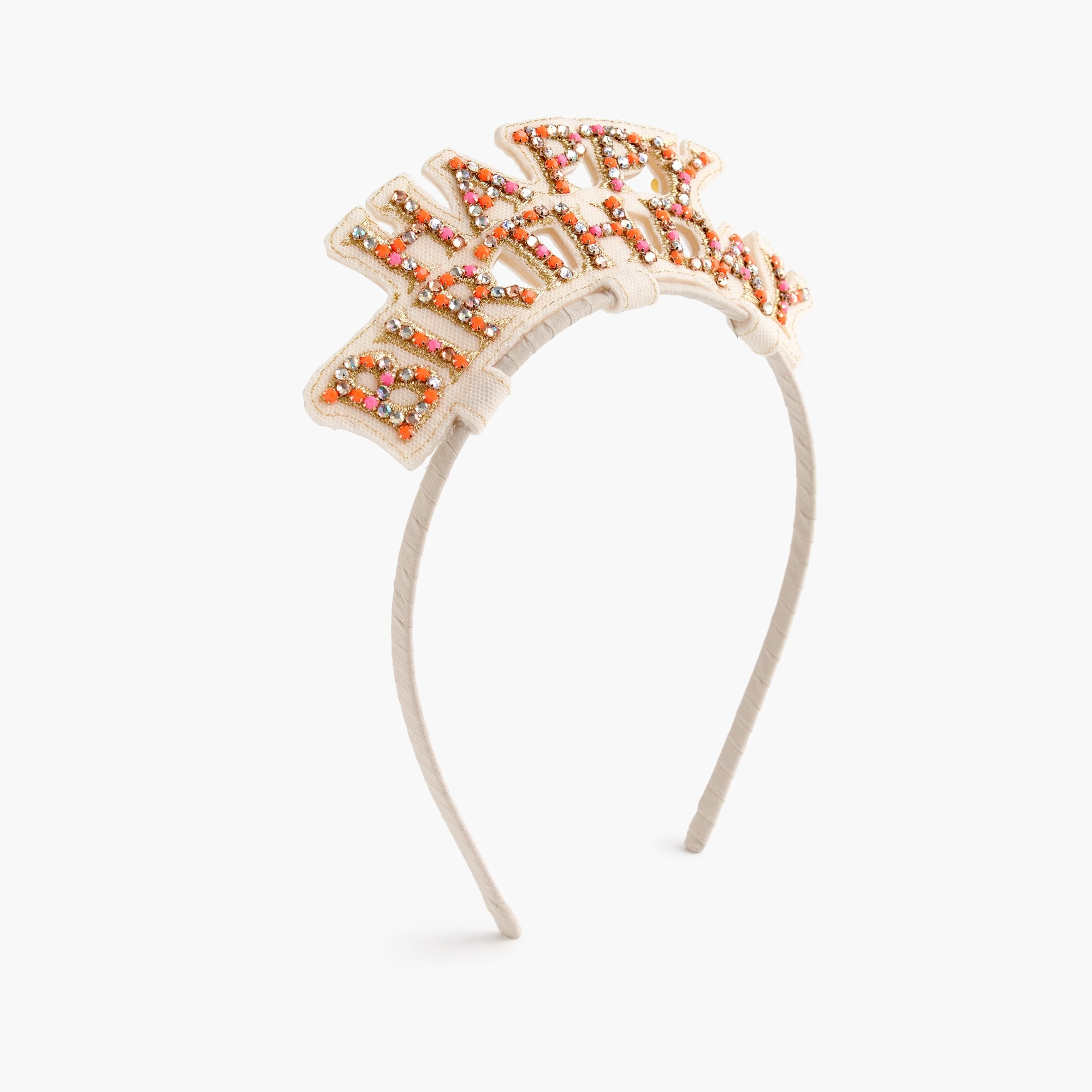 girls' happy birthday headband : girls' hair accessories