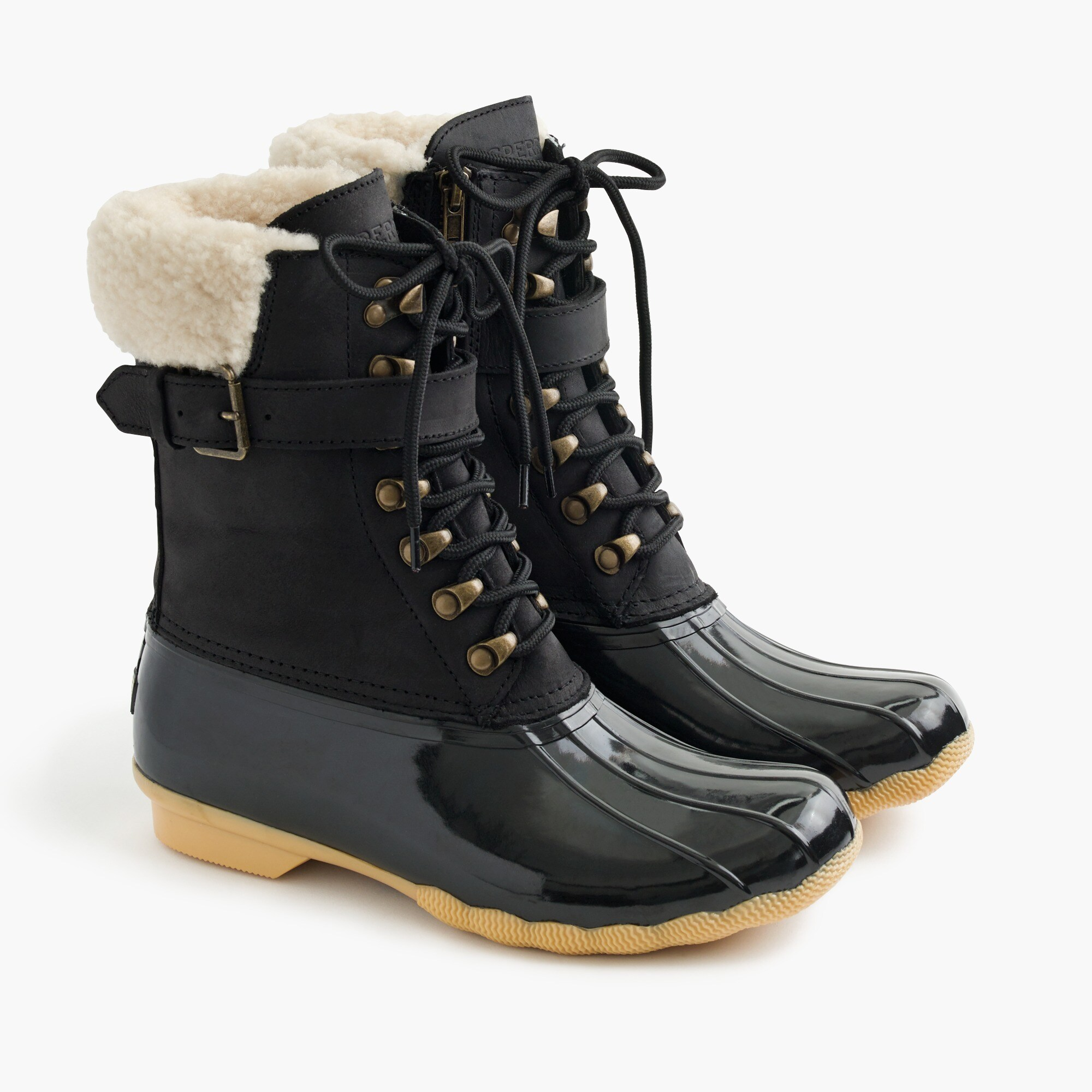 Image 1 for Women's Sperry® for J.Crew Shearwater buckle boots in black
