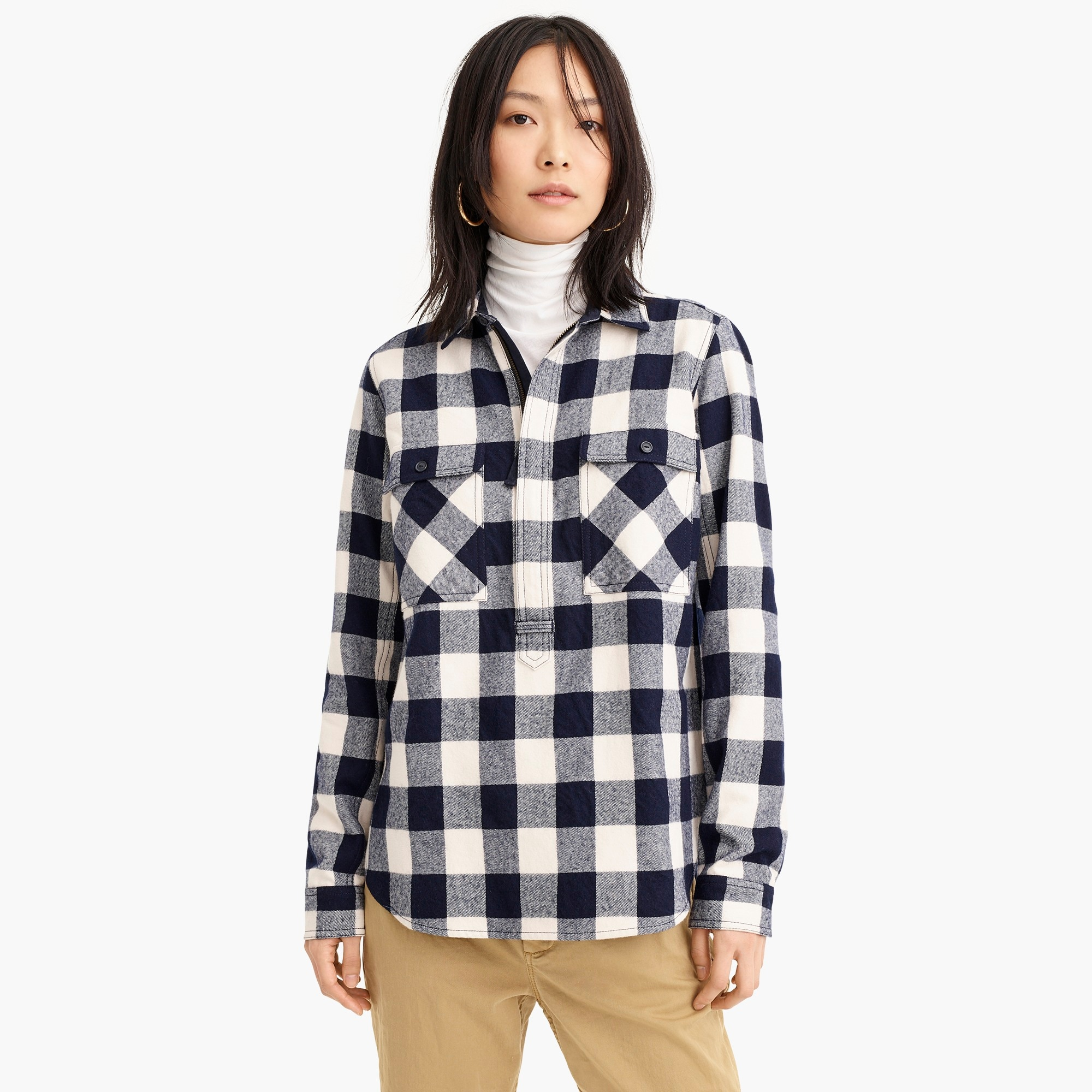 Image 3 for Buffalo check shirt-jacket