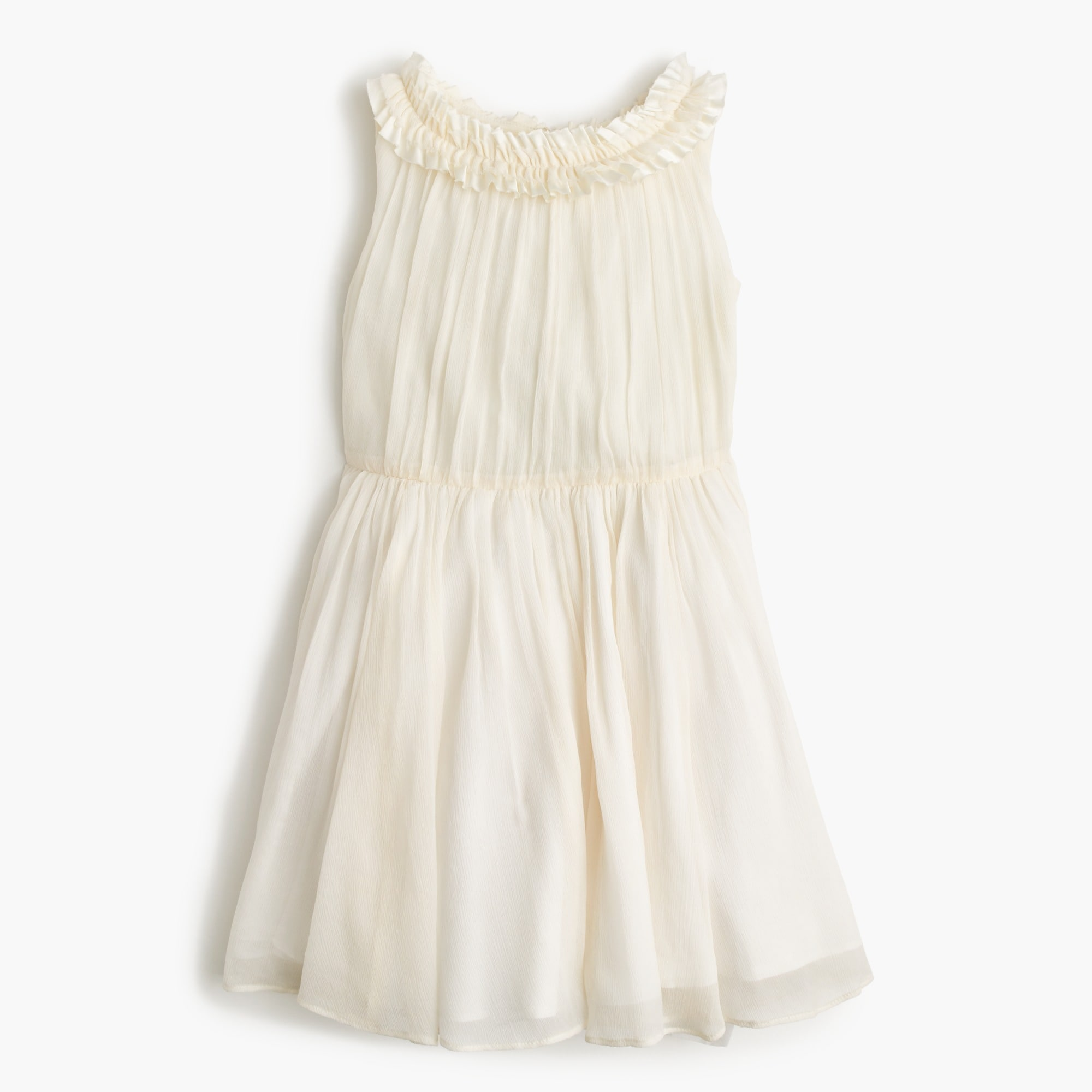 Girls' pleated ruffle dress in crinkle chiffon girl dresses c
