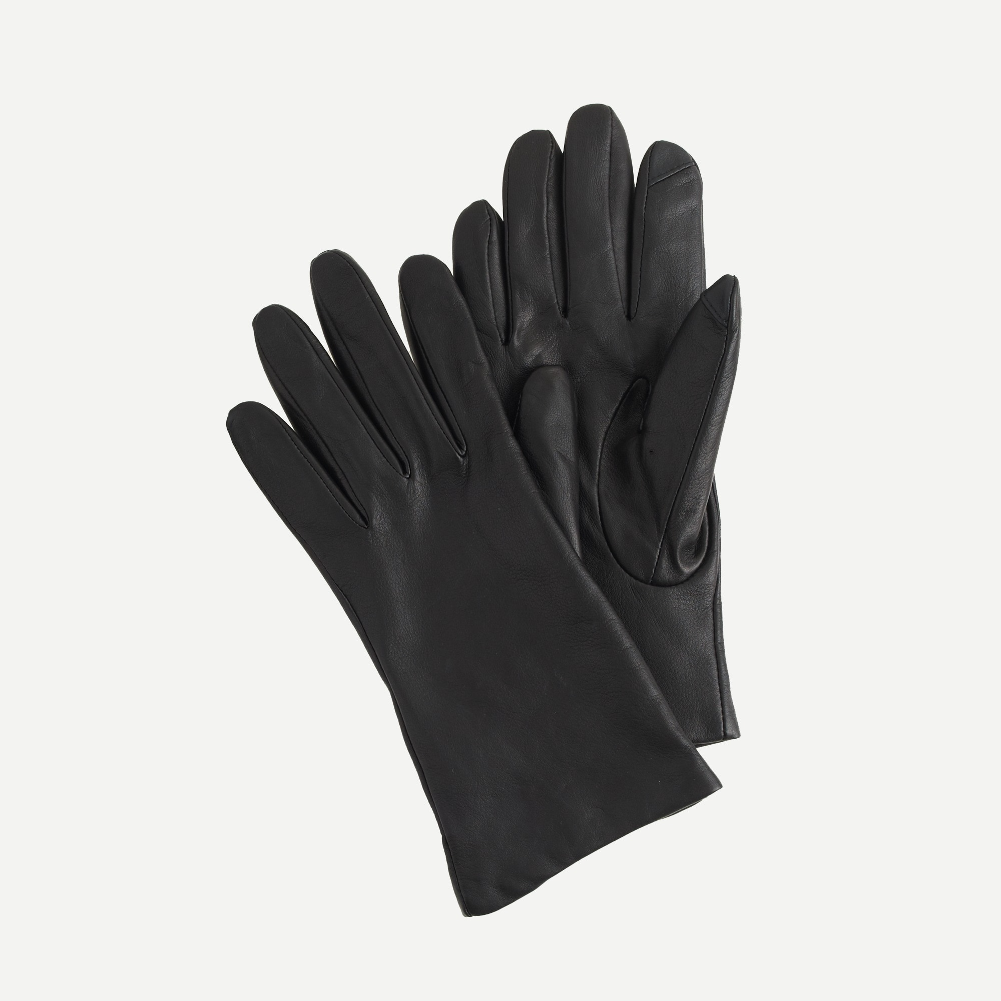 Cashmere-lined leather tech gloves women scarves, hats & gloves c