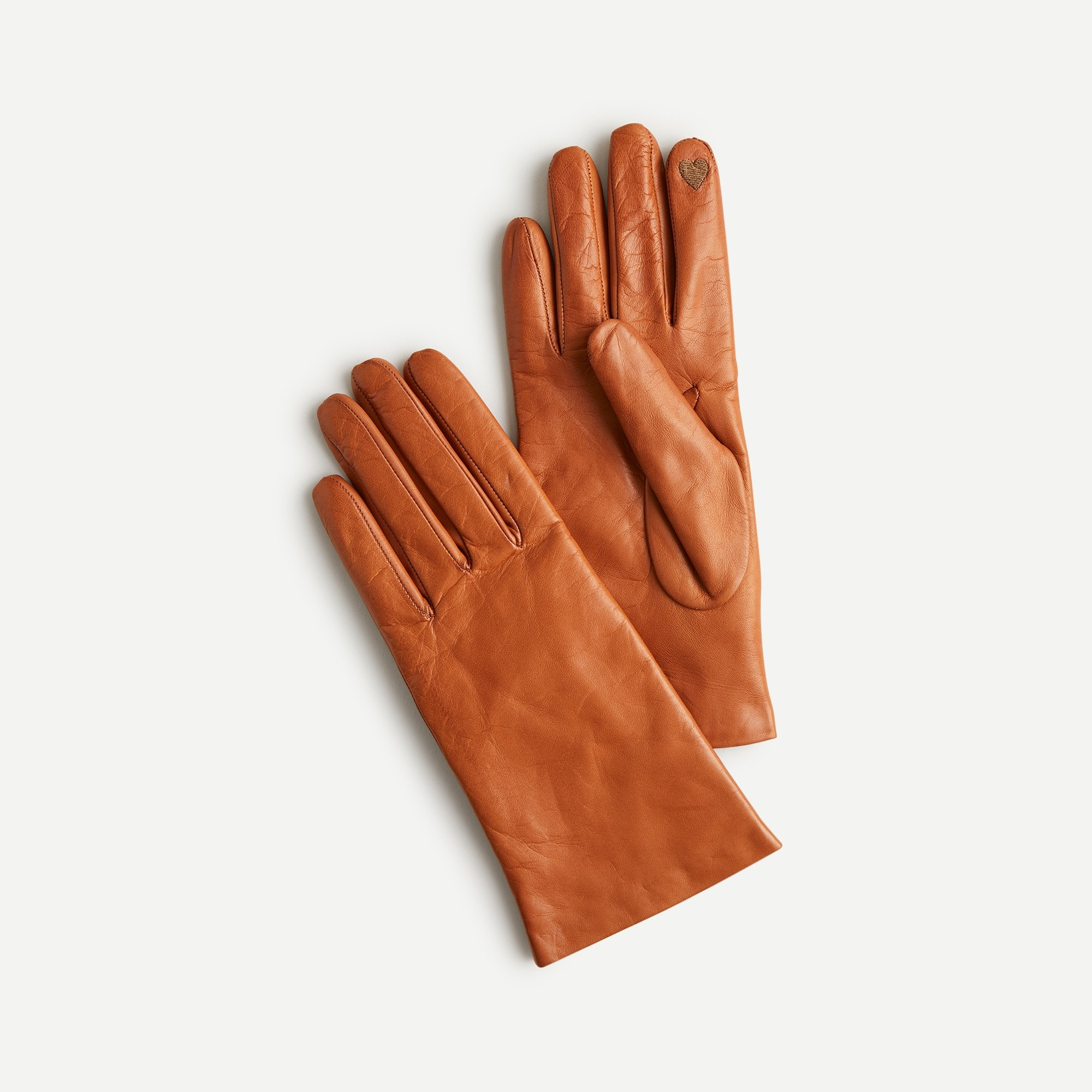 womens Cashmere-lined leather tech gloves