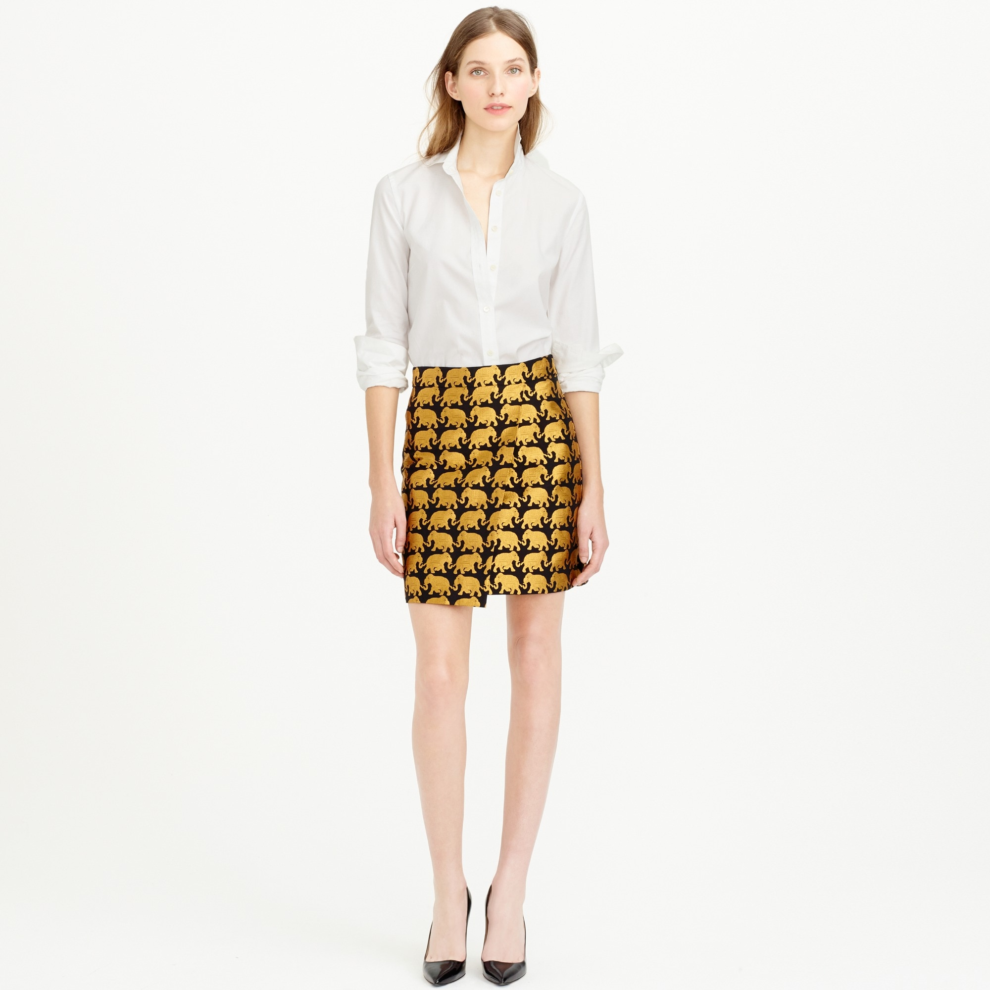 j crew origami skirt review