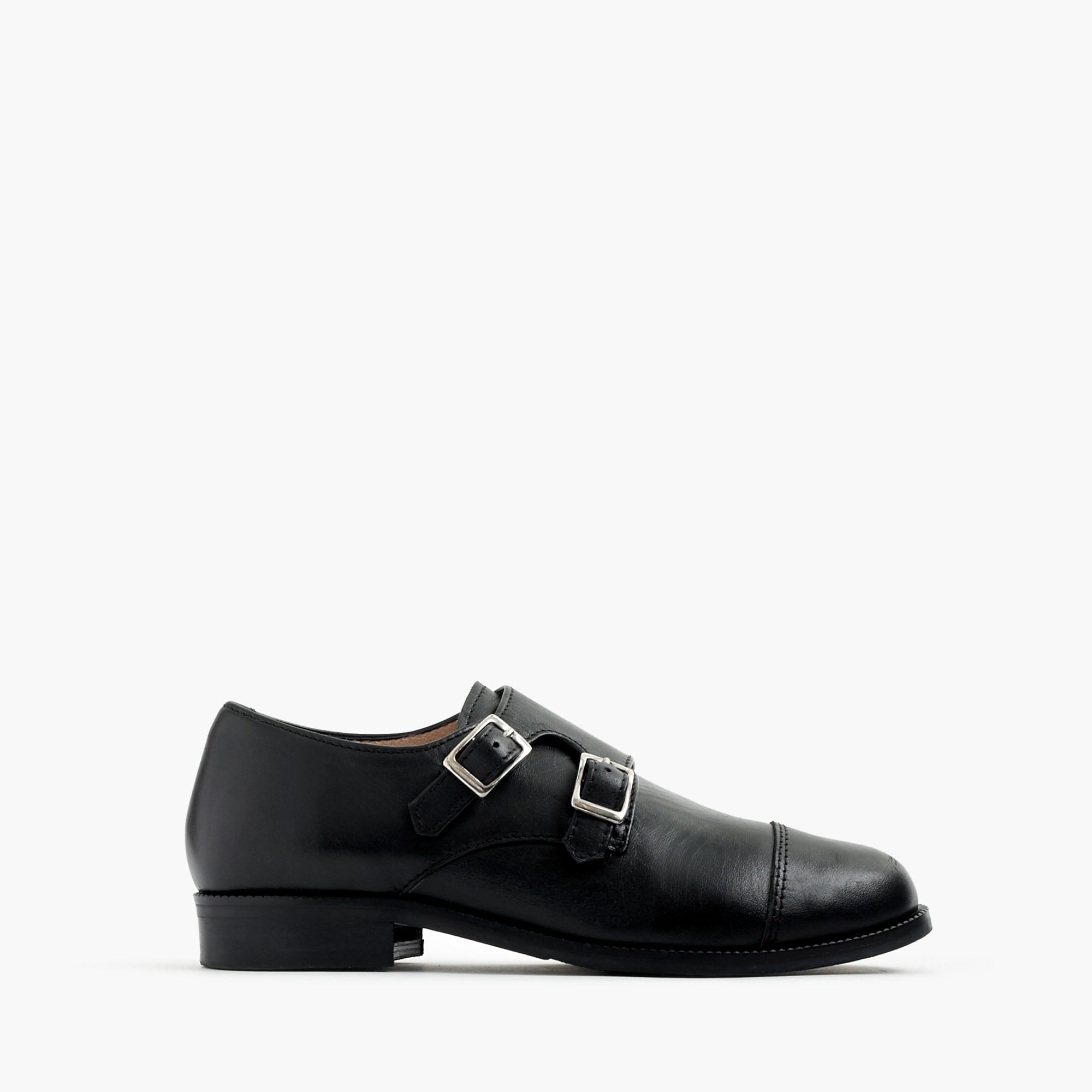 kids' double monk strap shoes : boy dress shoes