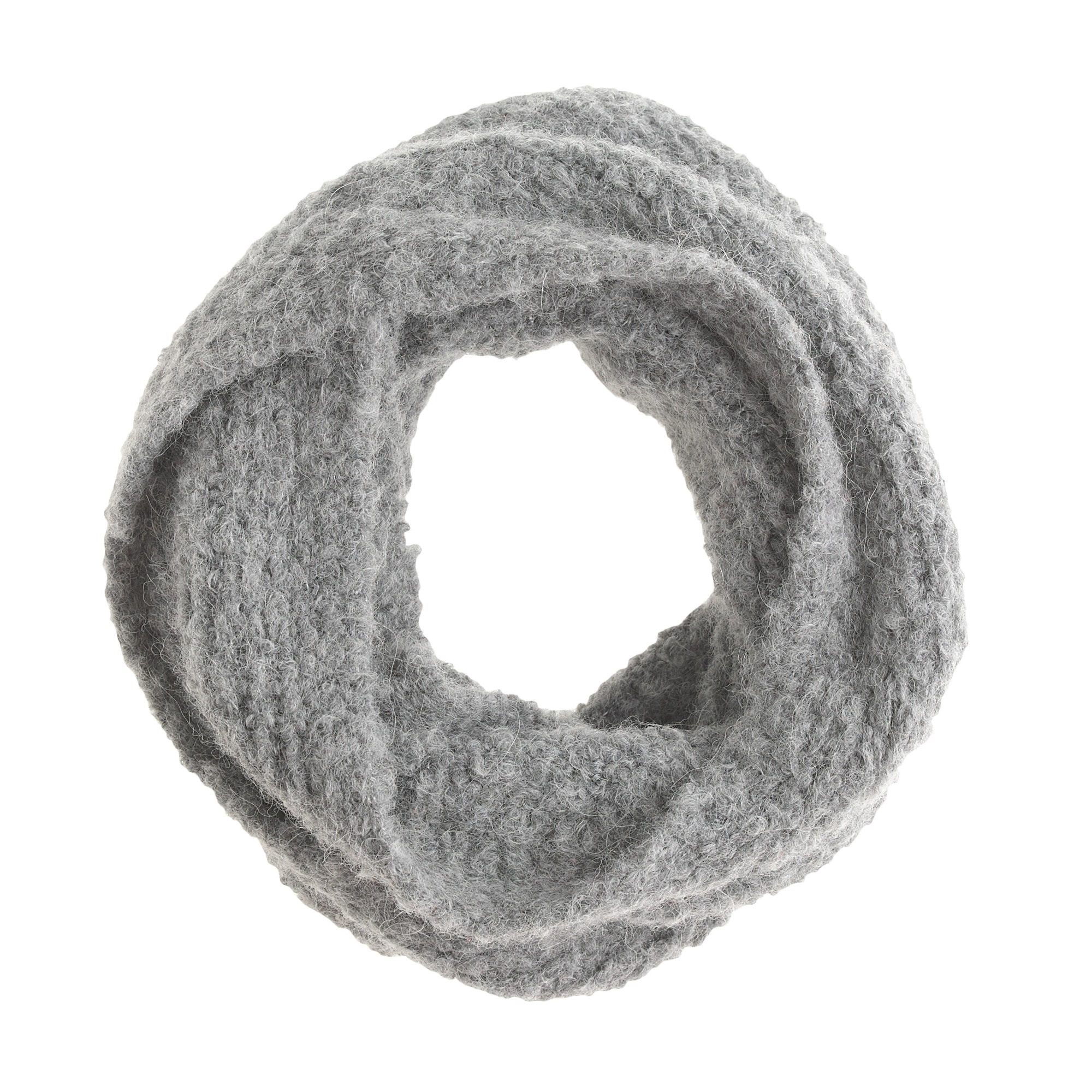kids' fluffy wool snood : girl cold weather