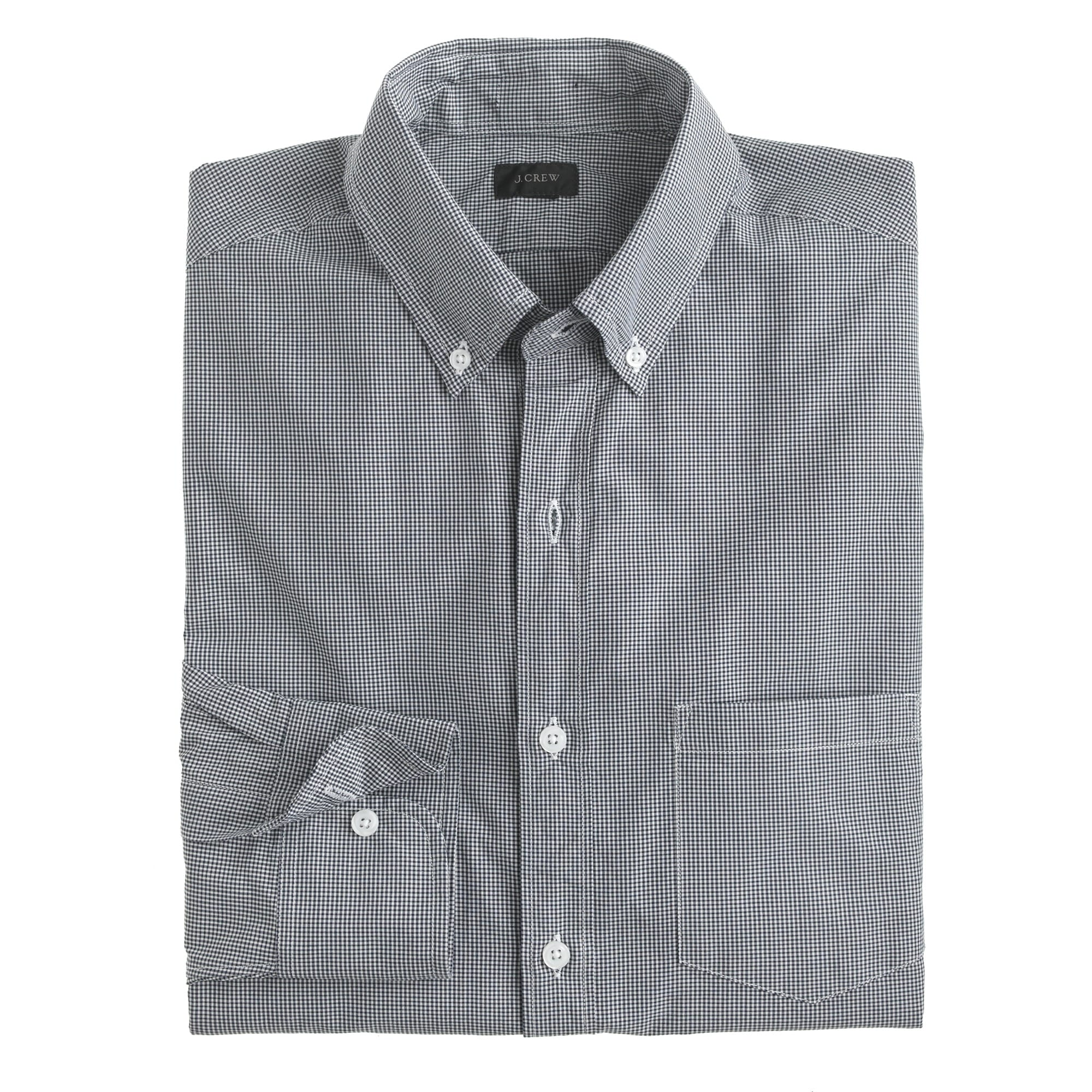 slim secret wash shirt in gingham : men's shirts