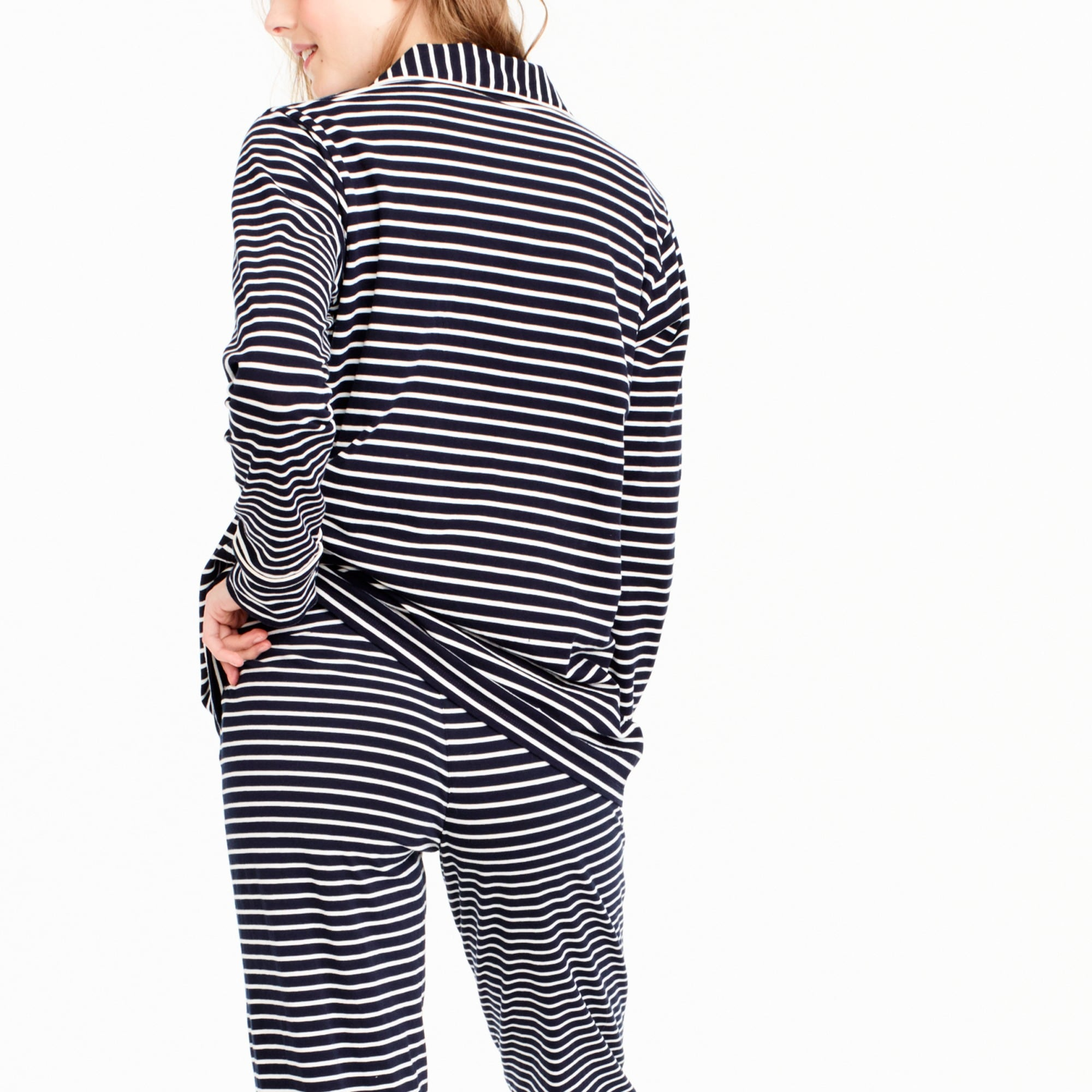 Petite dreamy cotton pajama set in stripe