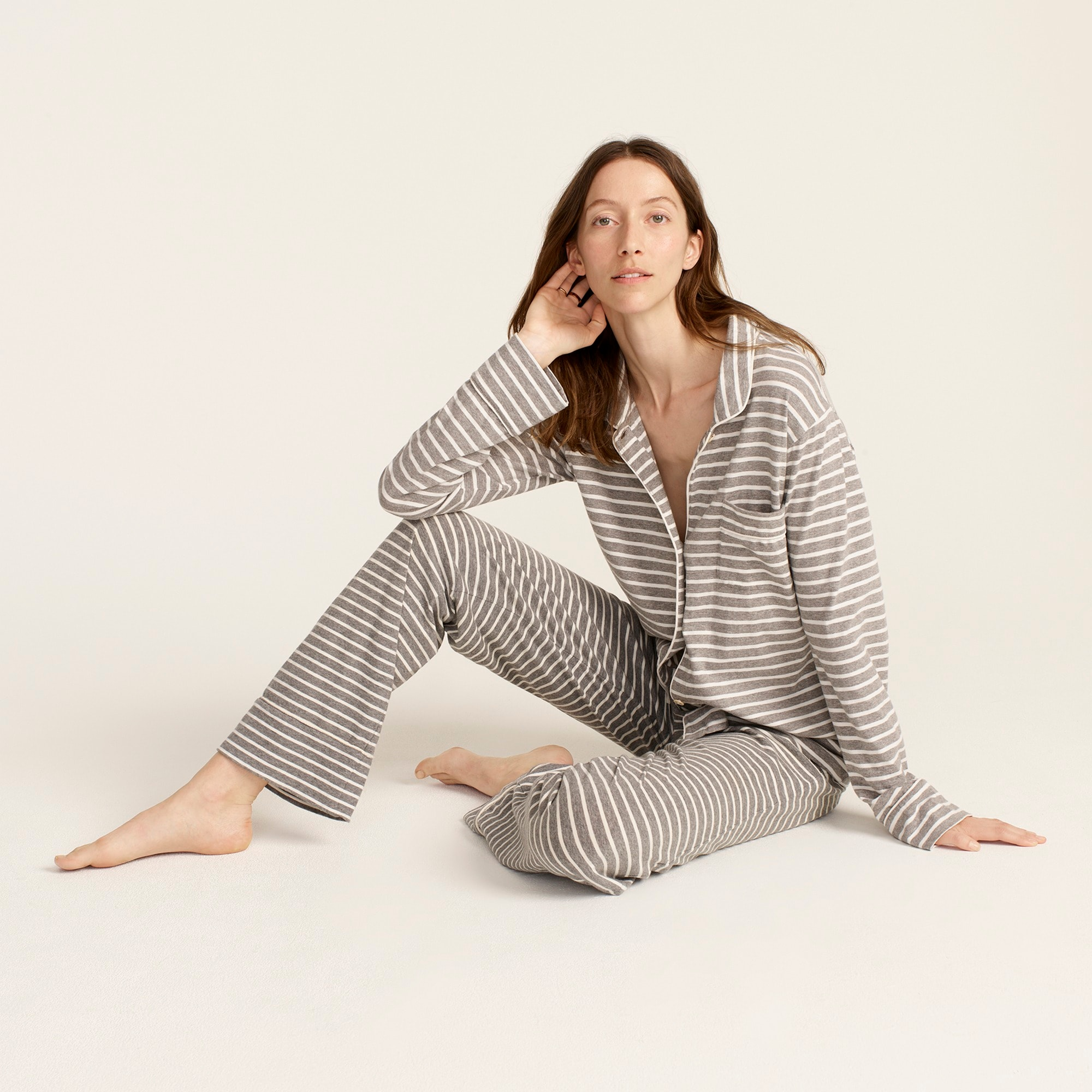 womens Dreamy cotton pajama set in stripe