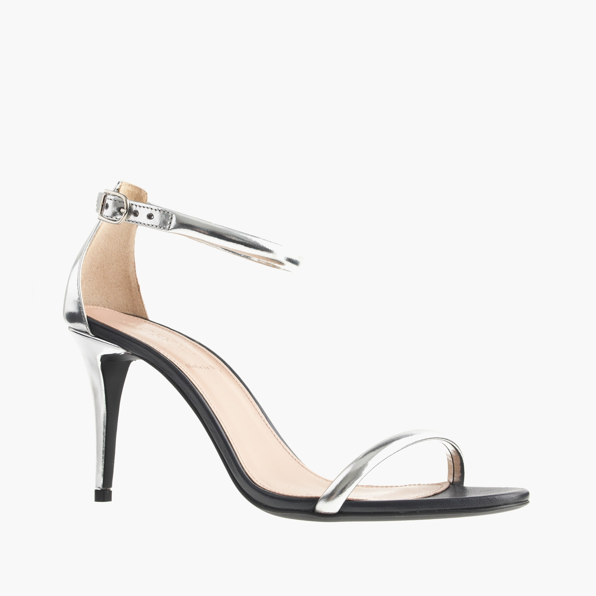 mixed leather strappy high-heel sandals : women's sandals