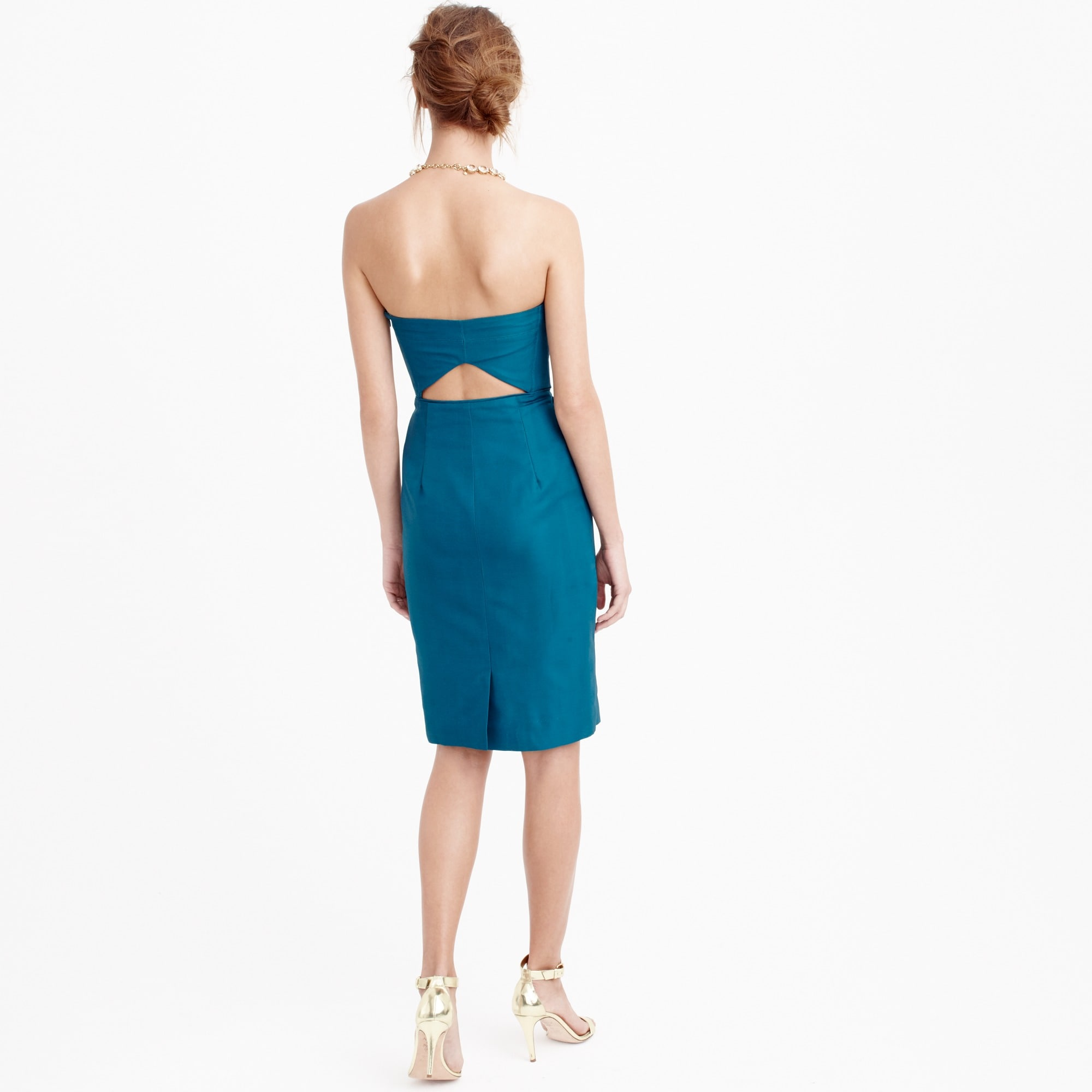 Image 3 for Rory strapless dress in classic faille