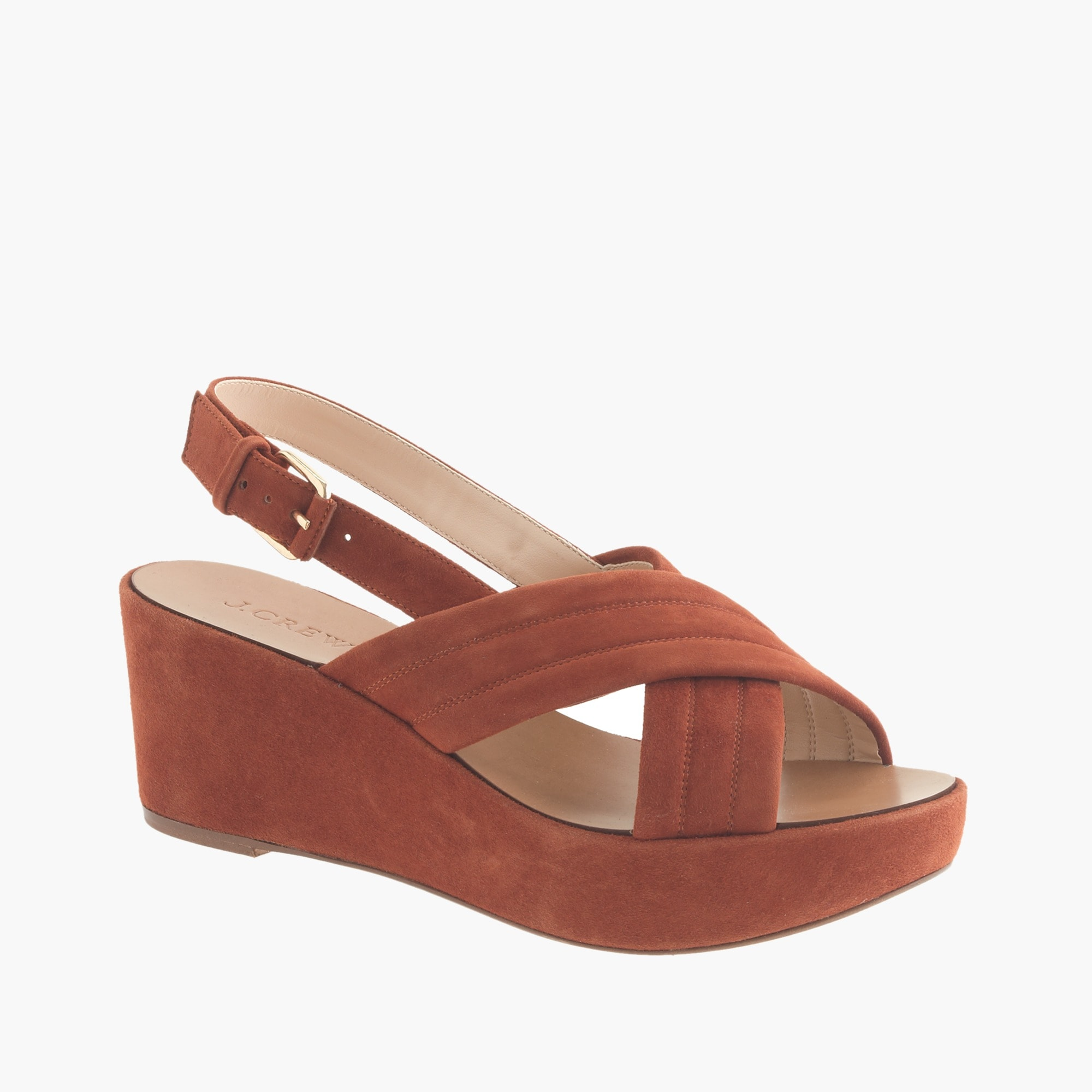 marcie suede wedges : women sandals