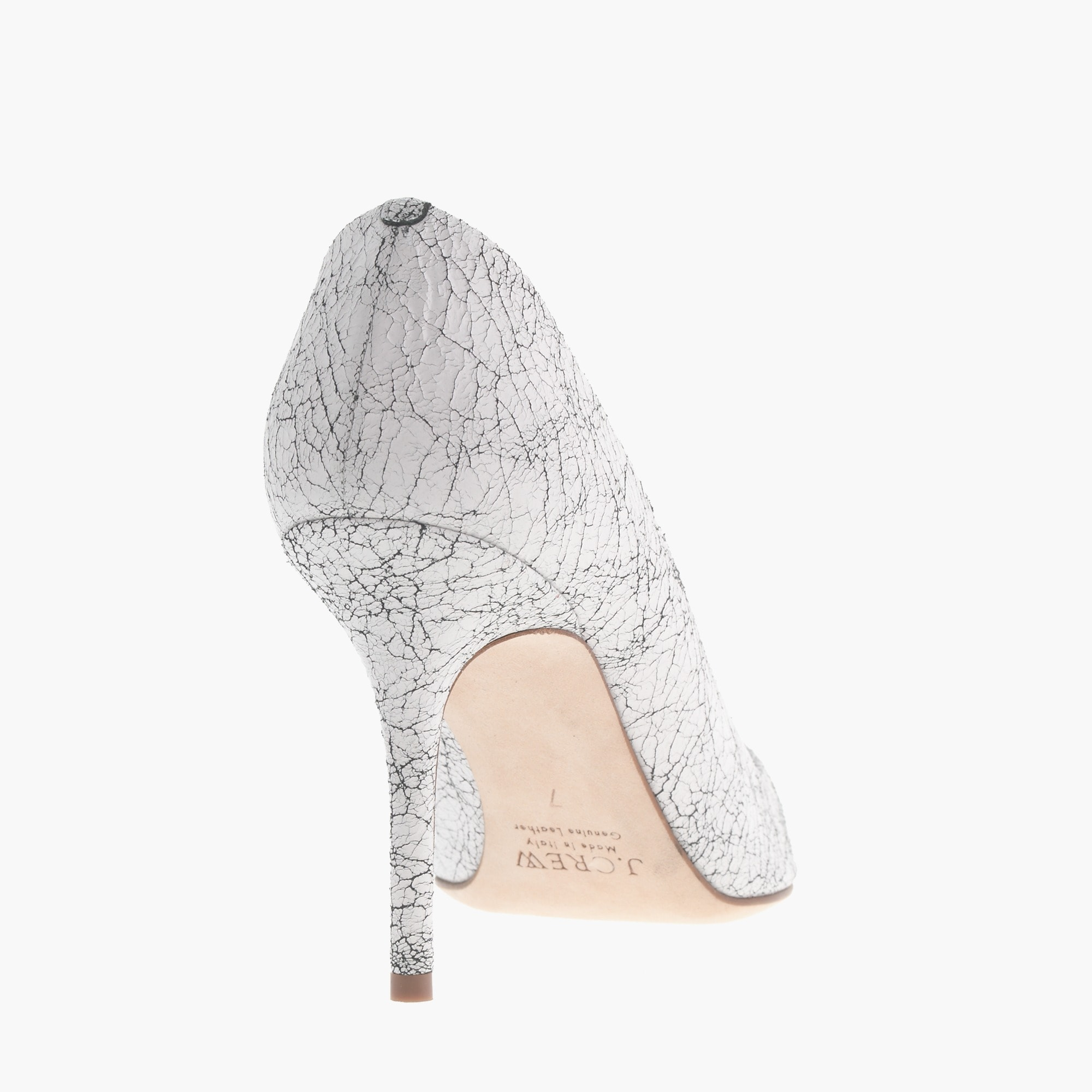 Elsie crackled leather pumps