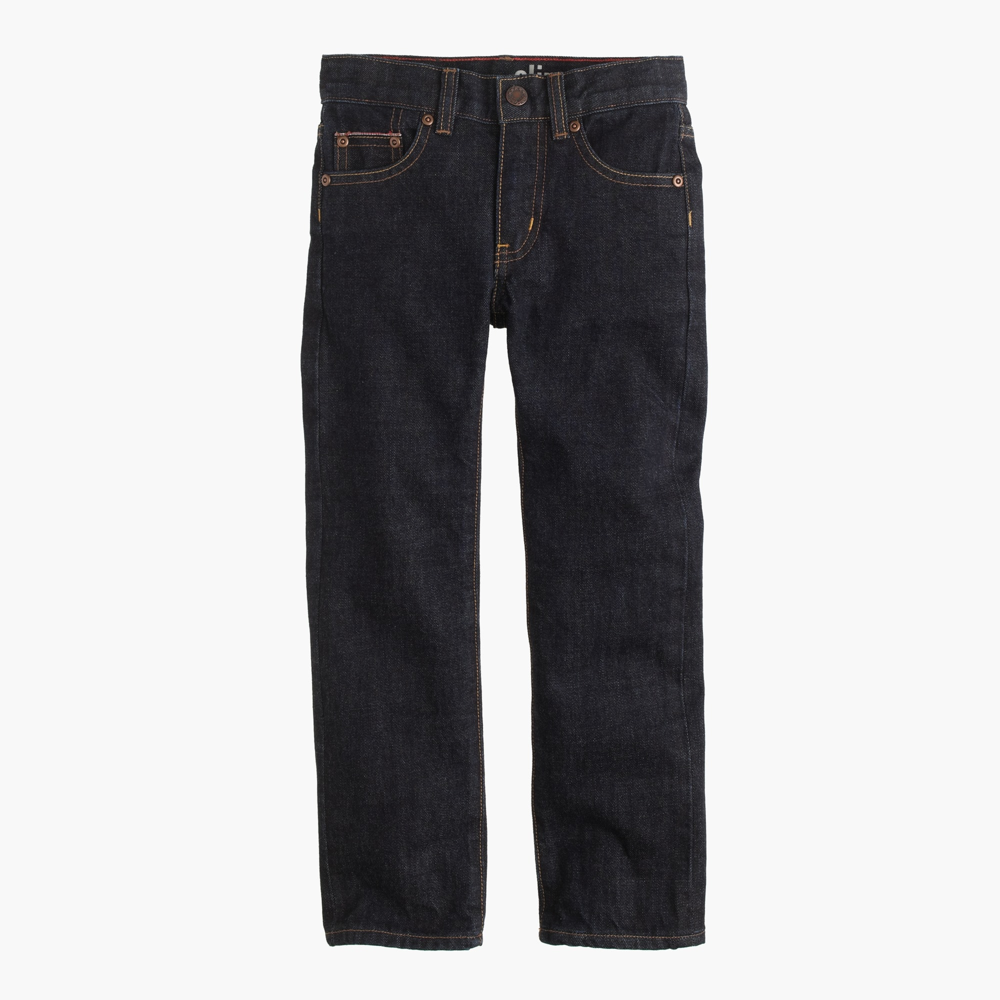 Boys' selvedge rinsed wash jean in slim fit boy pants c