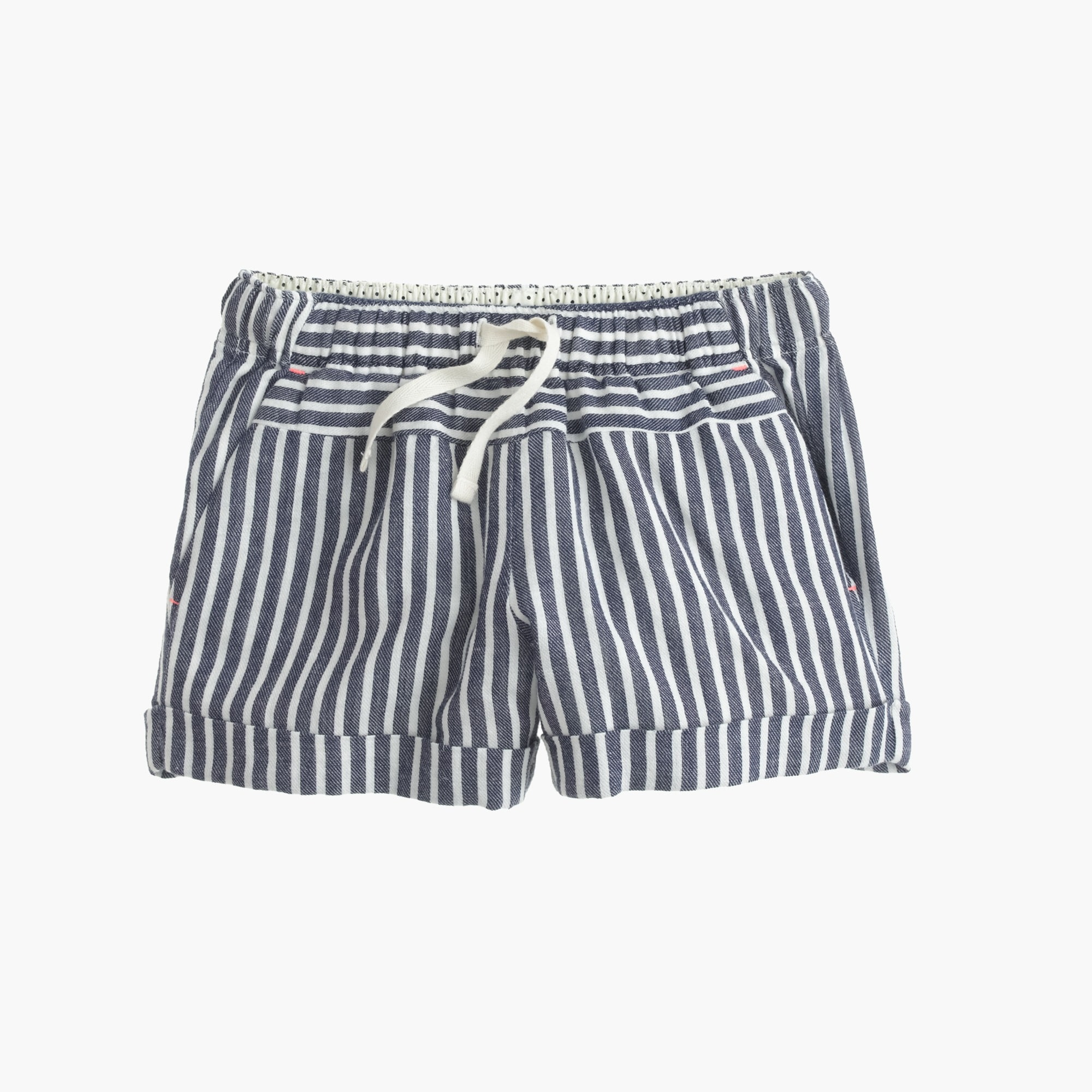 Image 1 for Girls' pull-on short in stripe