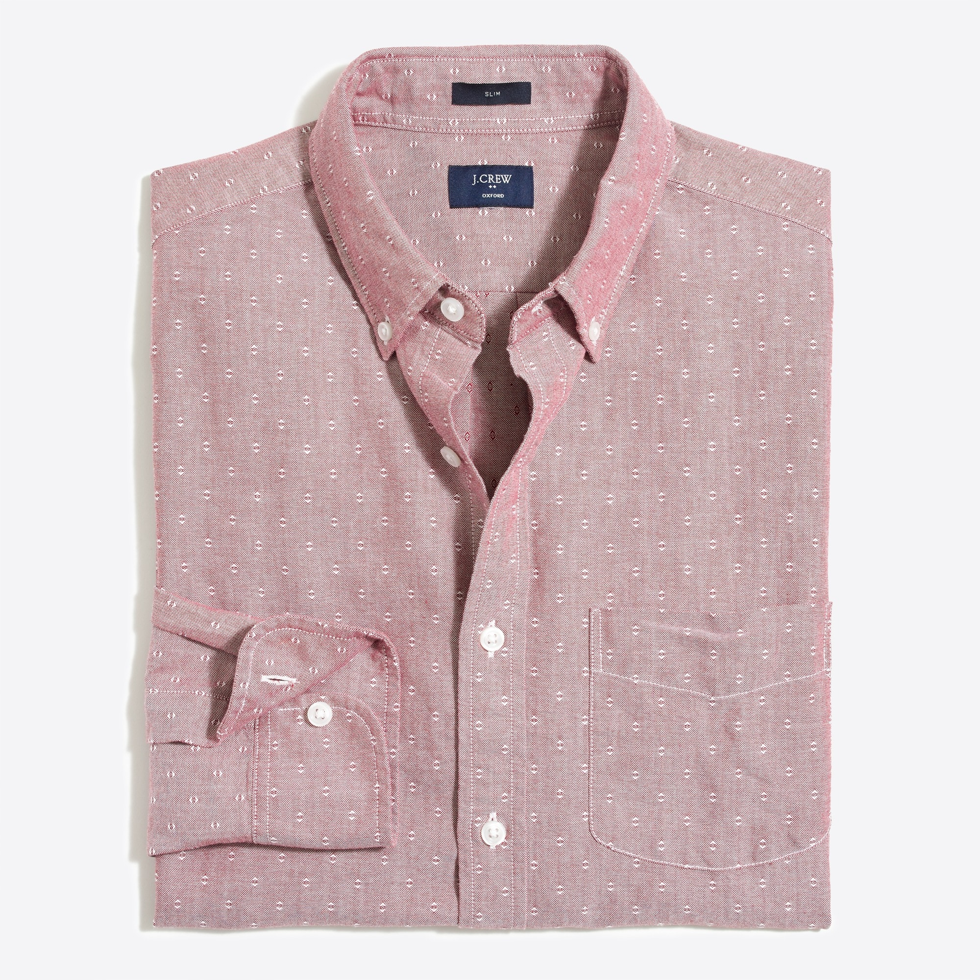 Slim oxford dobby shirt