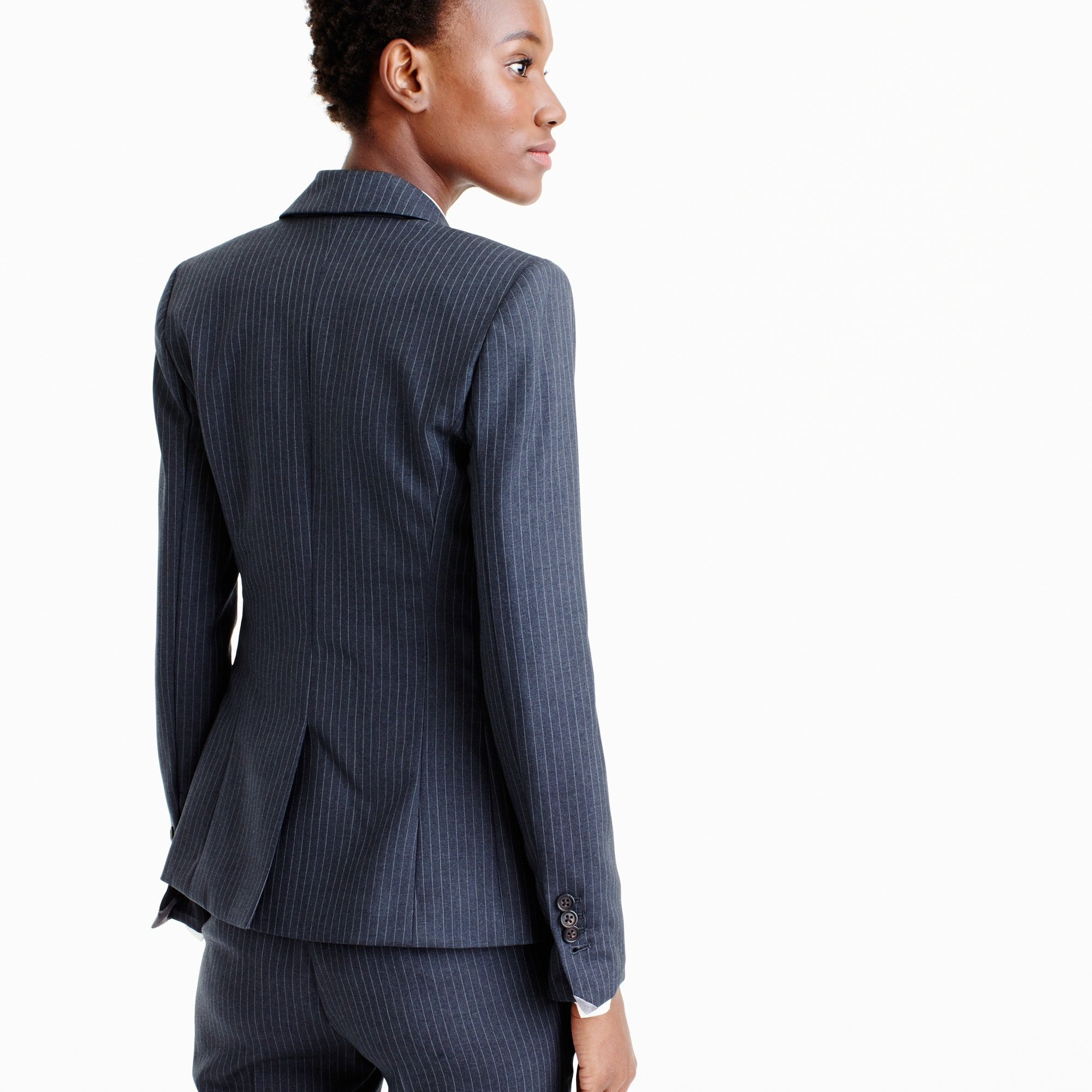 Campbell blazer in pinstripe Super 120s wool
