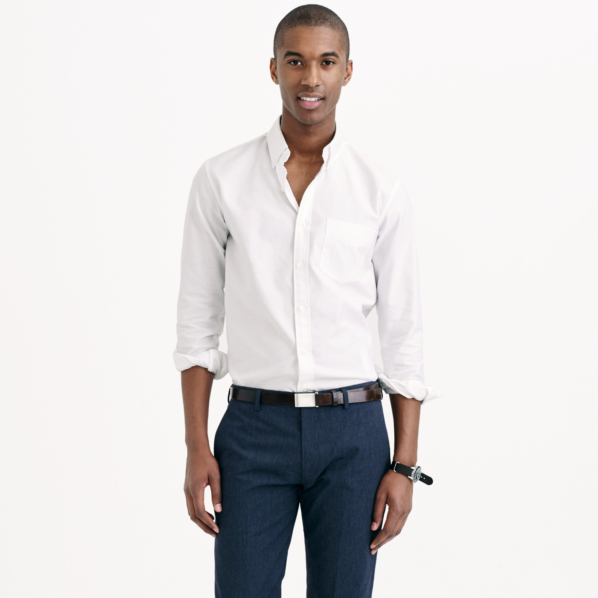 Image 1 for Thomas Mason® for J.Crew Ludlow Slim-fit oxford cloth shirt