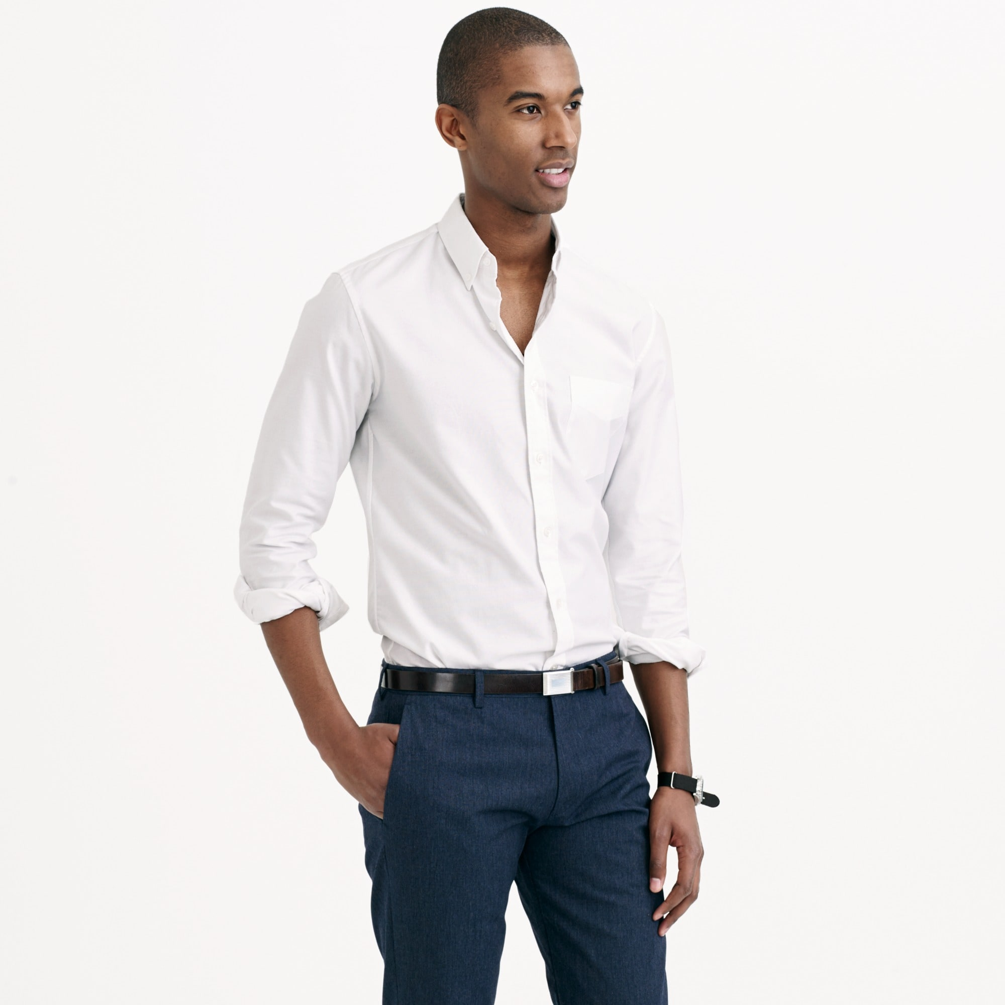 Image 4 for Thomas Mason® for J.Crew Ludlow Slim-fit oxford cloth shirt