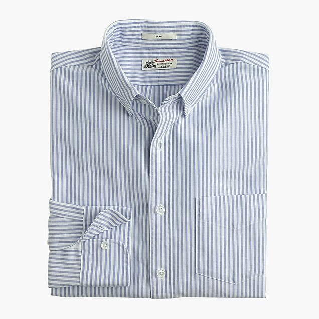 Thomas Mason® for J.Crew Ludlow Slim-fit oxford cloth shirt in vintage stripe