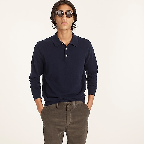 mens Cashmere collared sweater