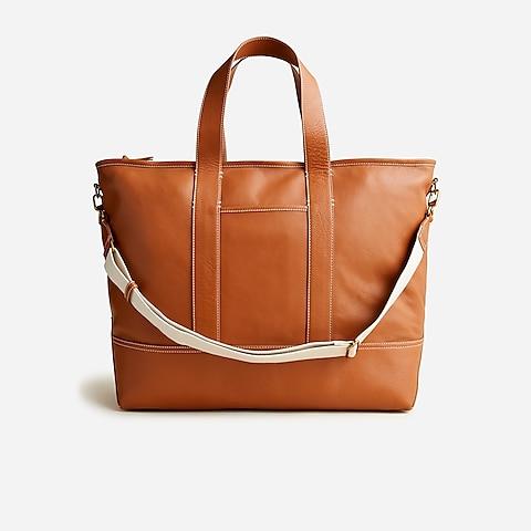womens Weekender Montauk tote in leather