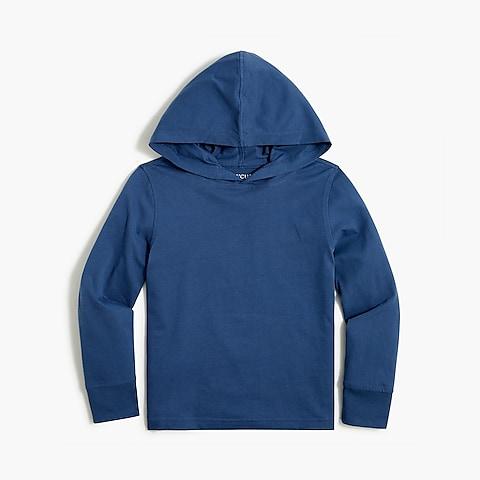 boys Kids' long-sleeve cotton jersey hoodie tee