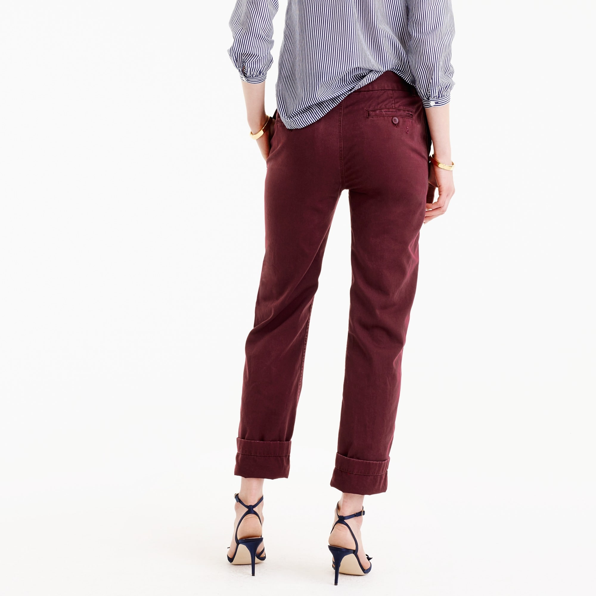 Broken-in boyfriend chino pant