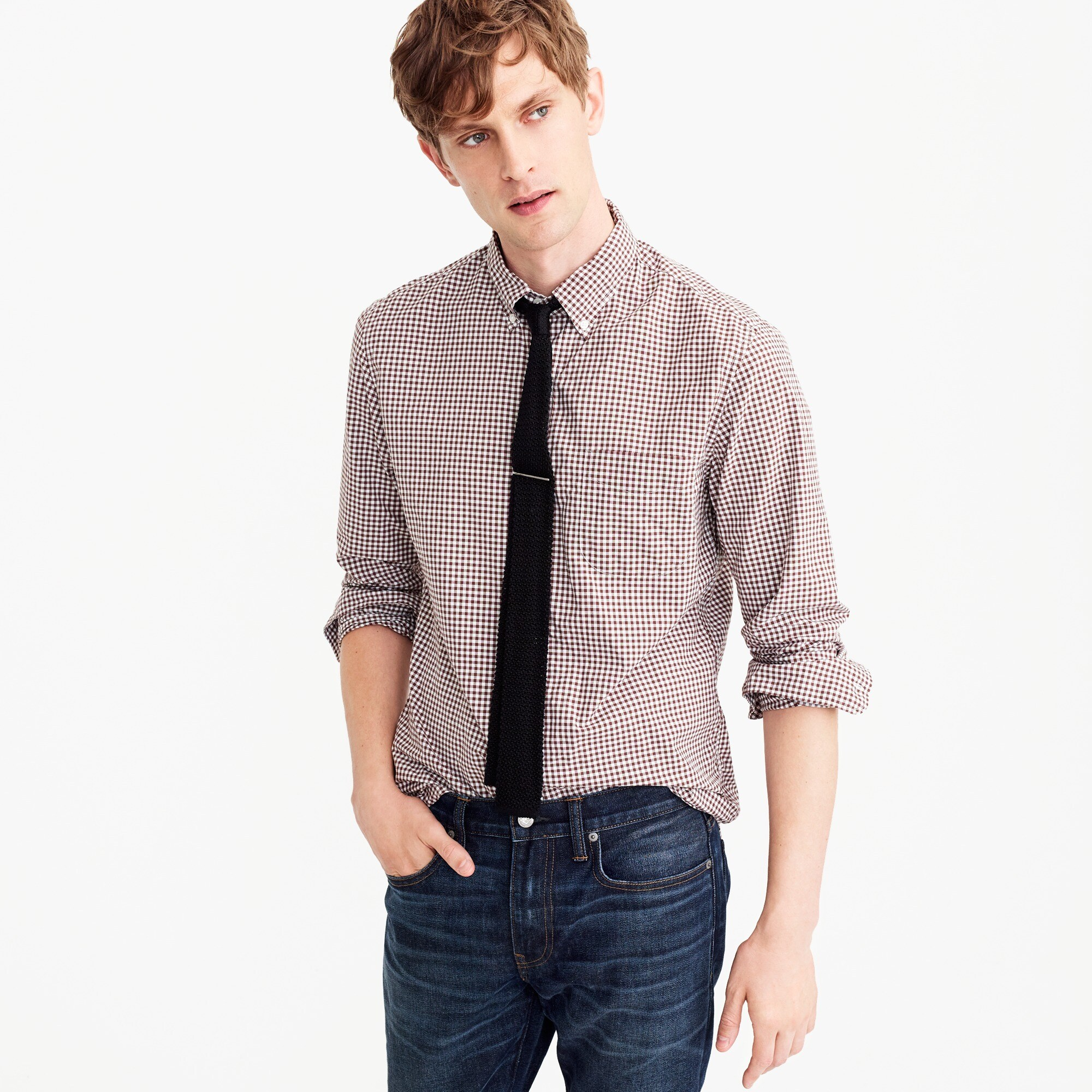 Slim Secret Wash shirt in classic gingham