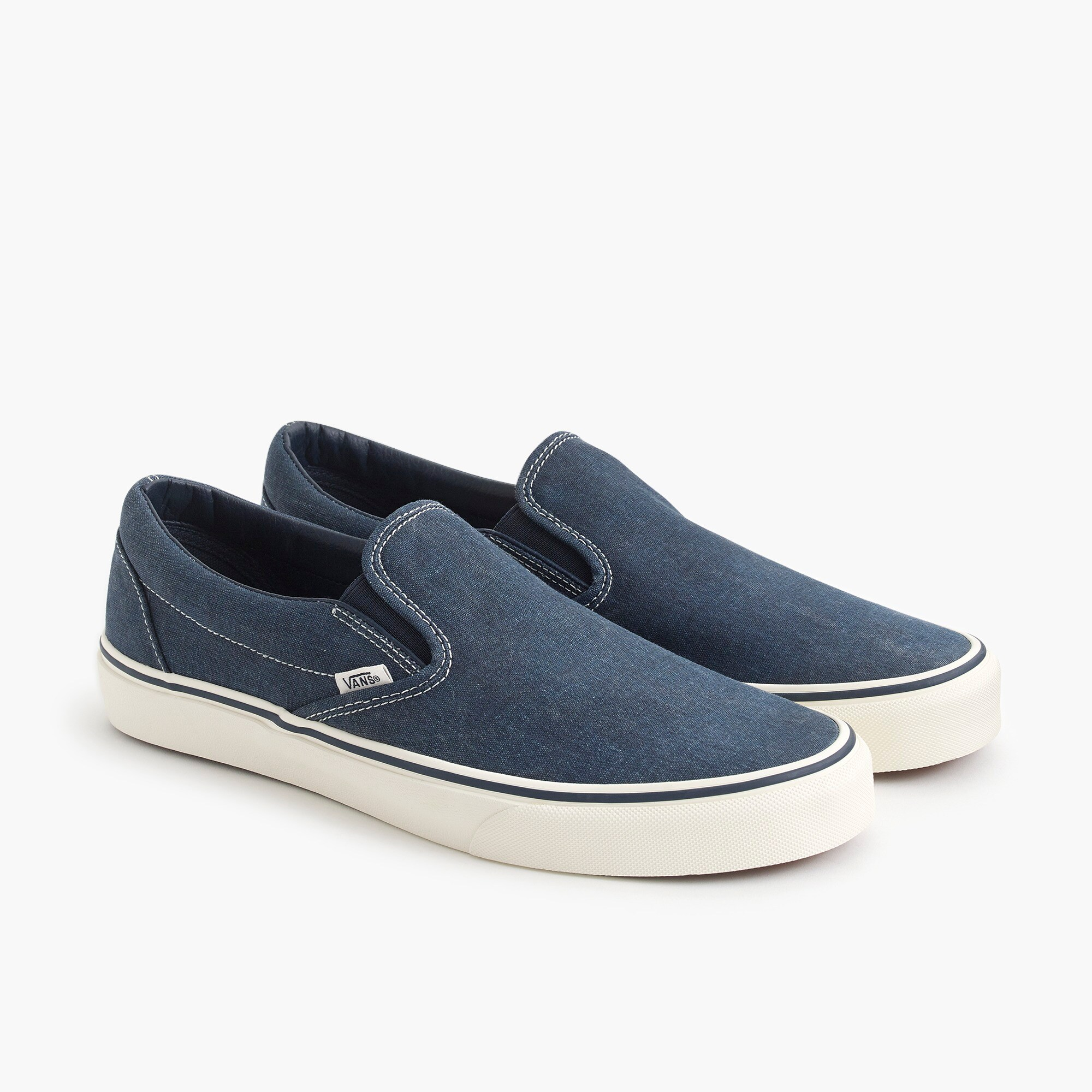 mens Vans® for J.Crew washed canvas classic slip-on sneakers