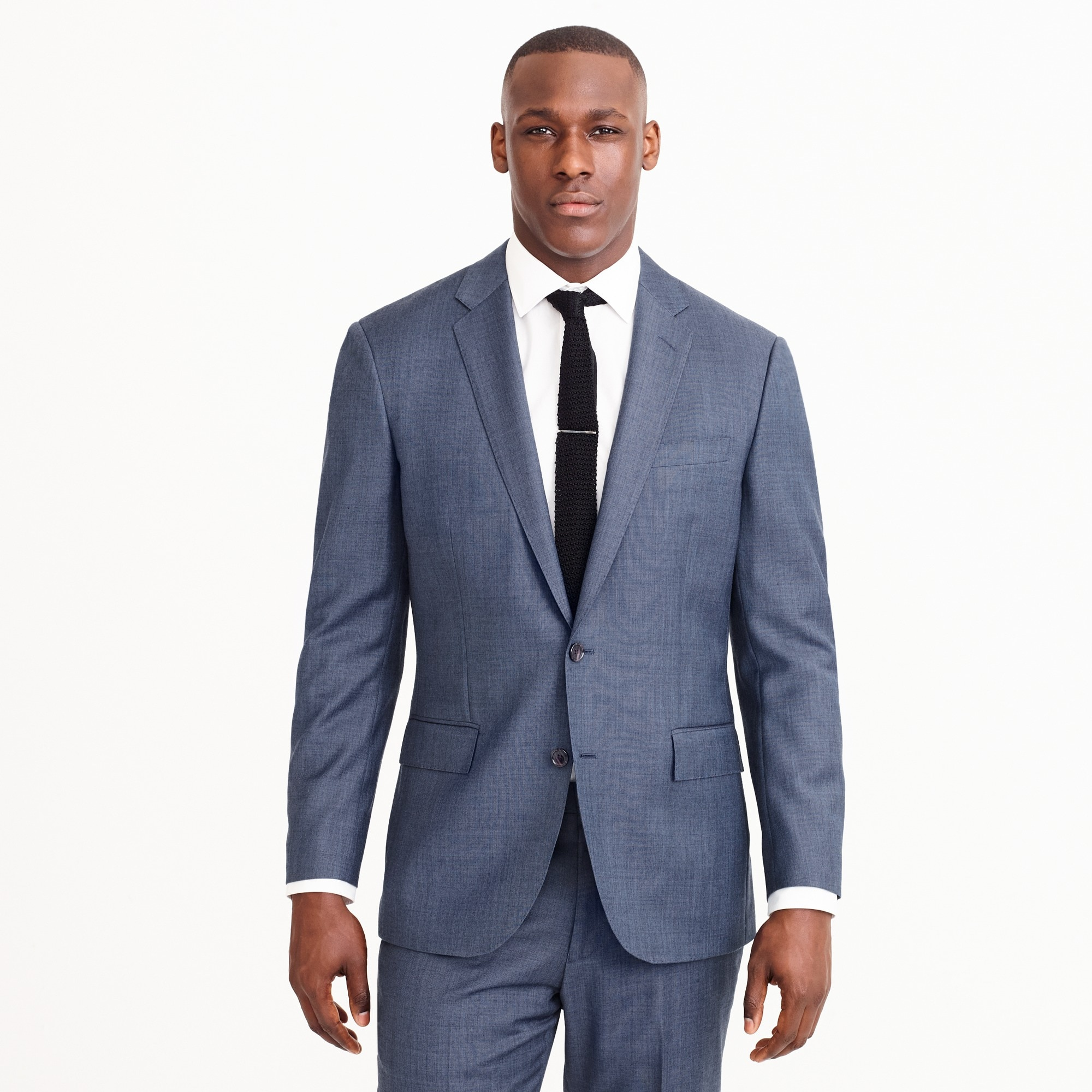 men's crosby suit jacket with double vent in italian worsted wool - men's suiting