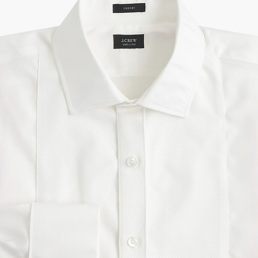 j.crew: crosby classic-fit piqué bib tuxedo shirt for men, right side, view zoomed