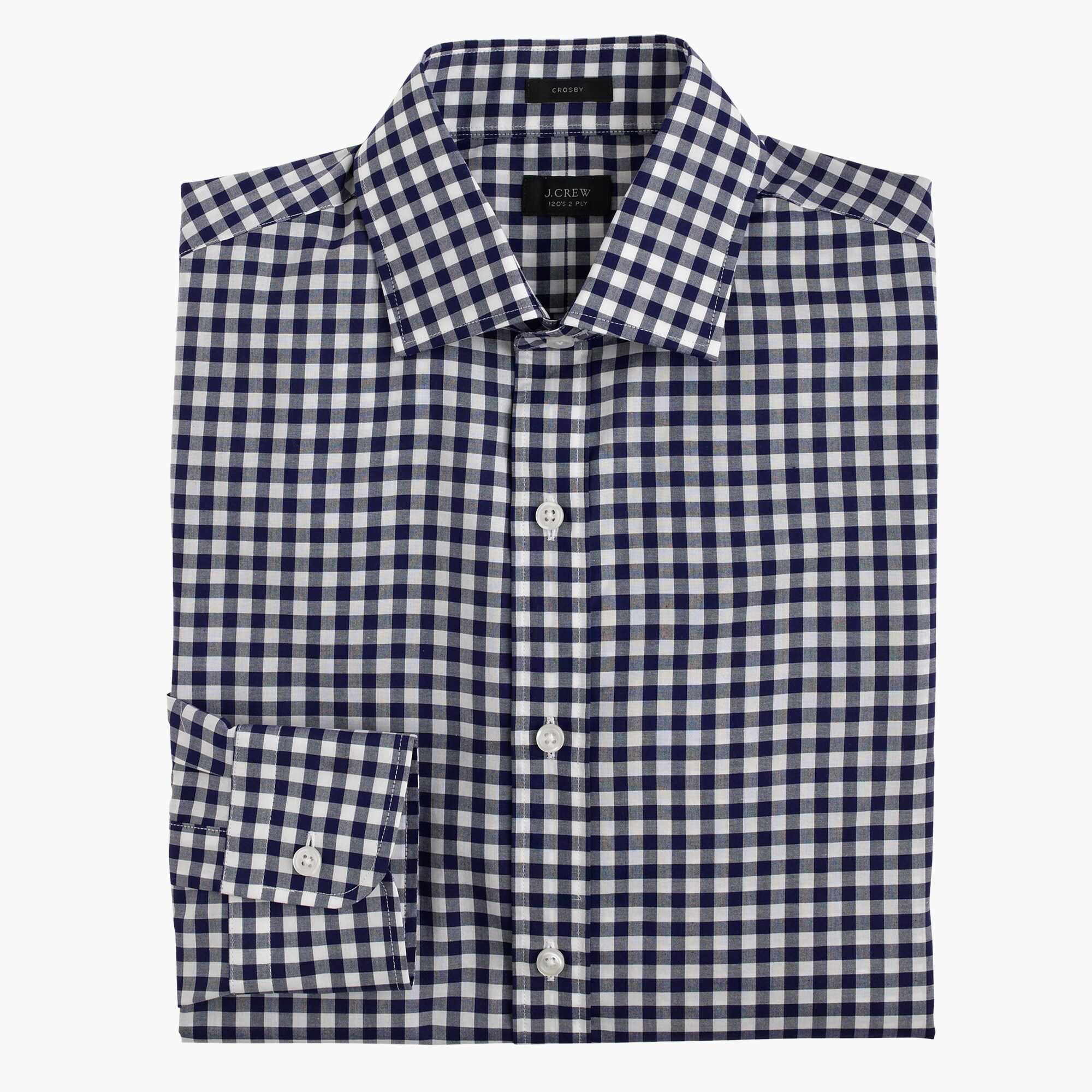 crosby shirt in classic navy gingham : men's shirts