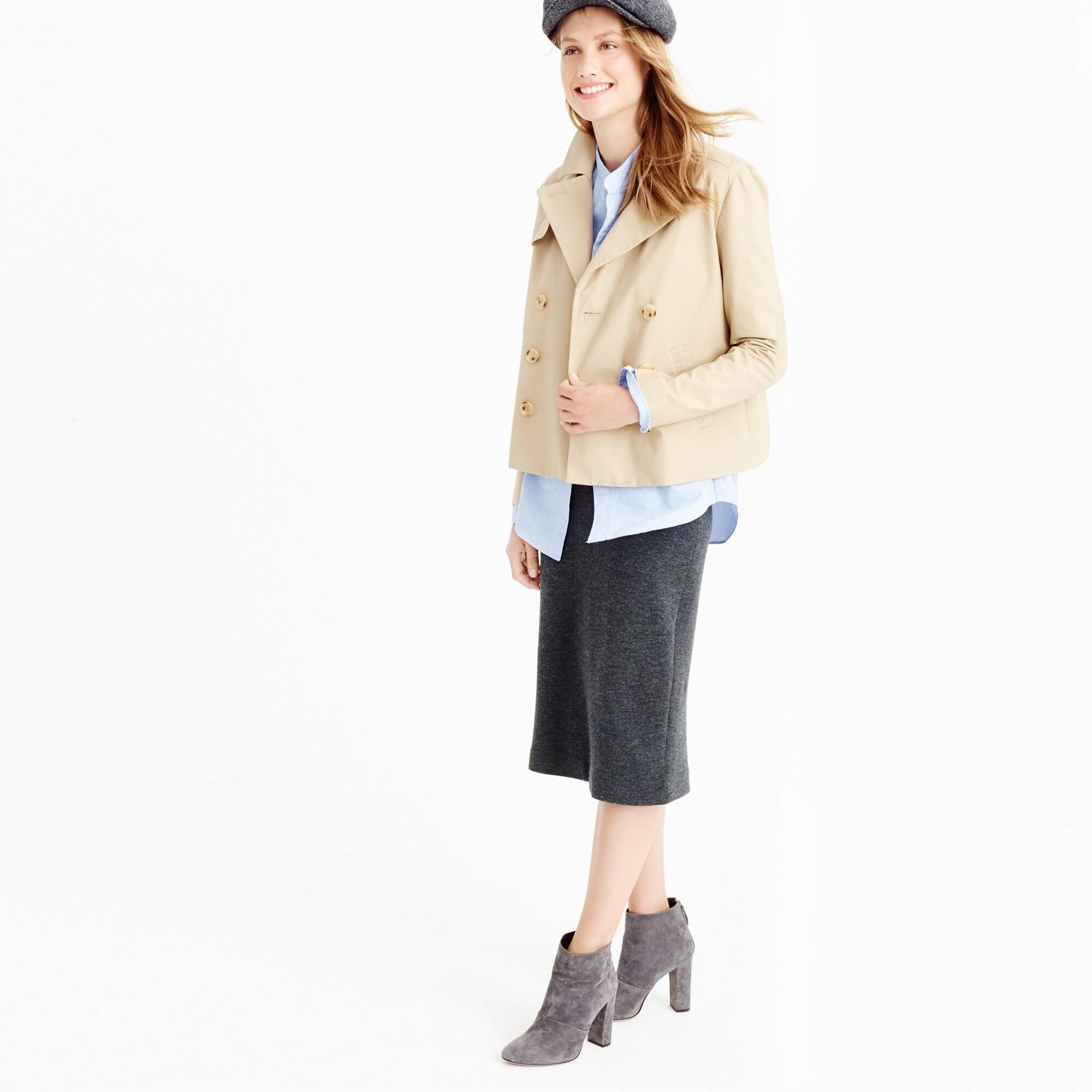 Japanese poplin swing trench coat