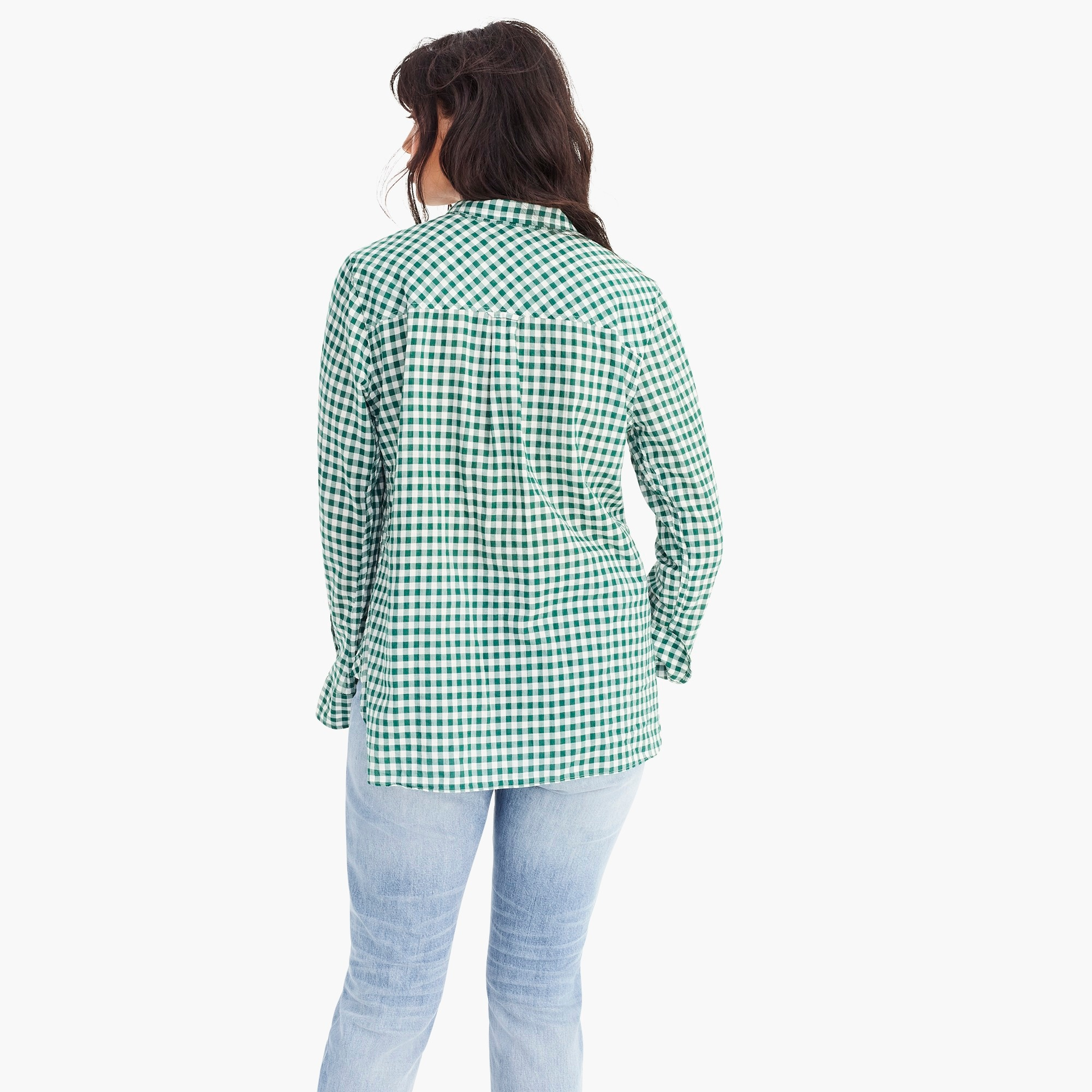 Image 5 for Classic-fit boy shirt in crinkle gingham