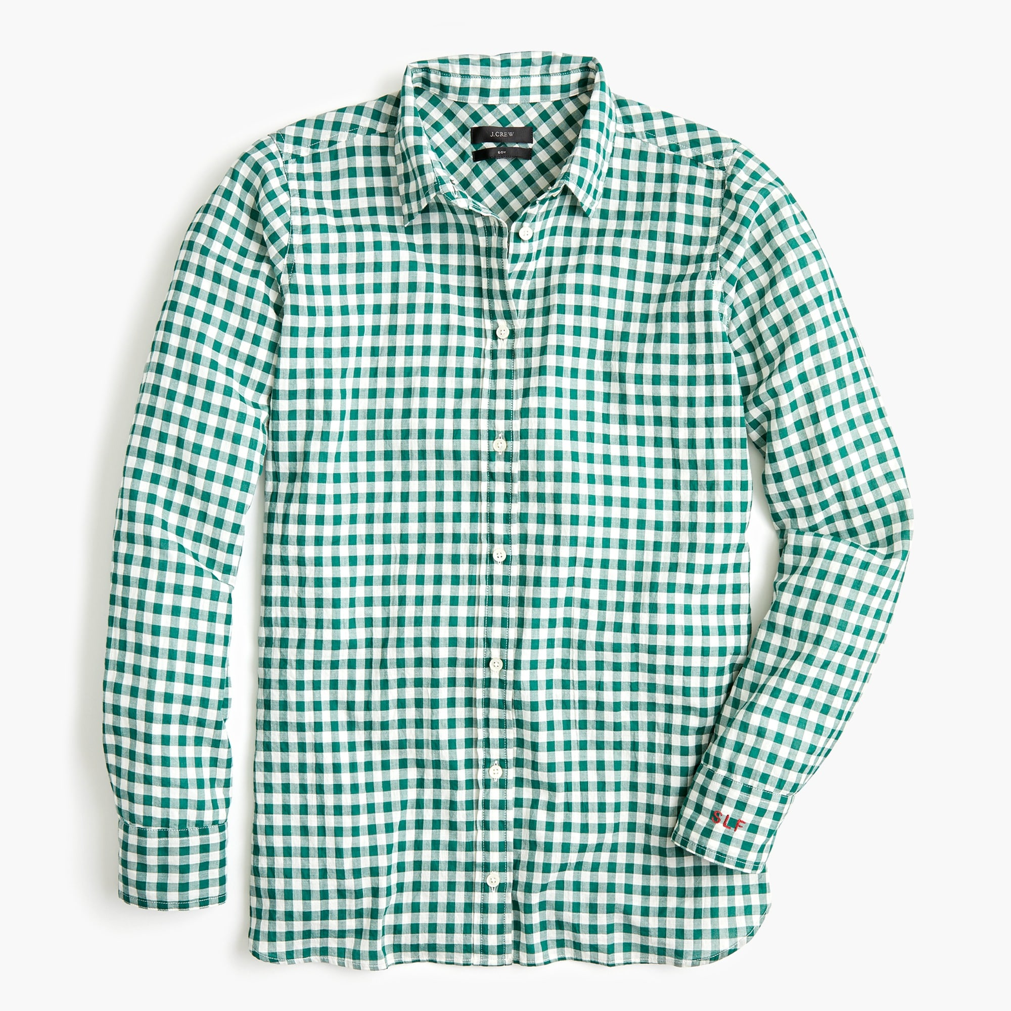 Image 6 for Classic-fit boy shirt in crinkle gingham