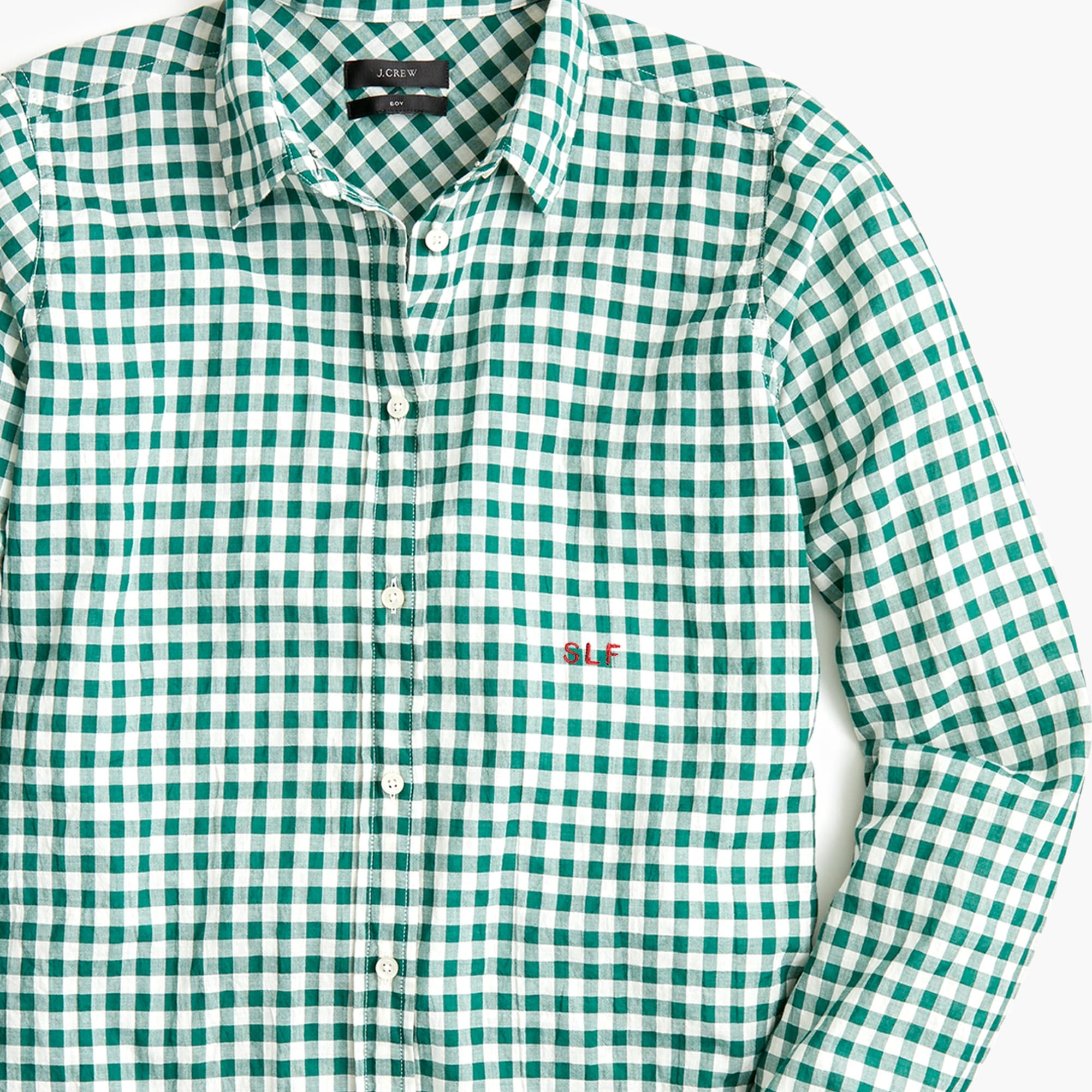 Image 7 for Classic-fit boy shirt in crinkle gingham