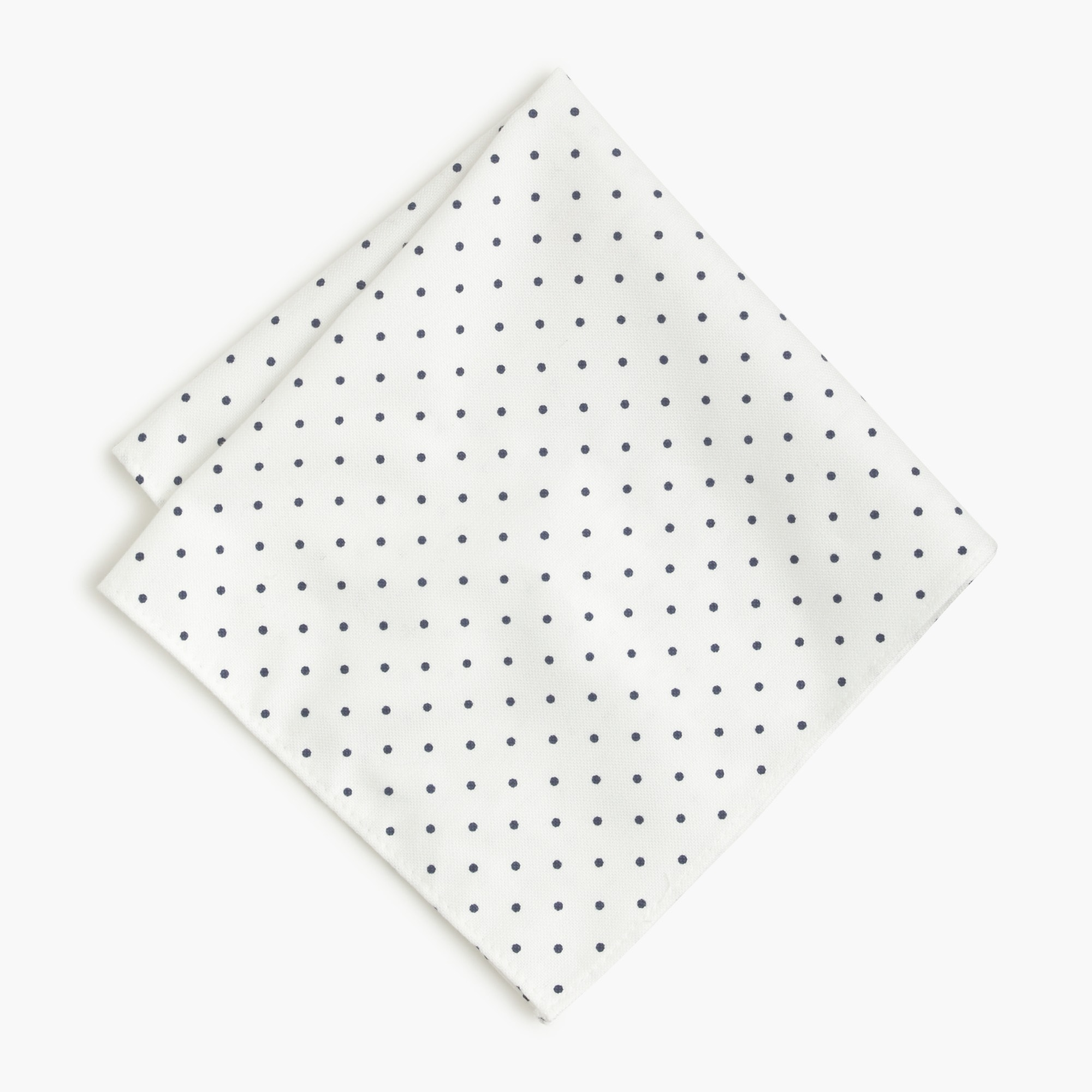 men's cotton pocket square in large dot - men's accessories