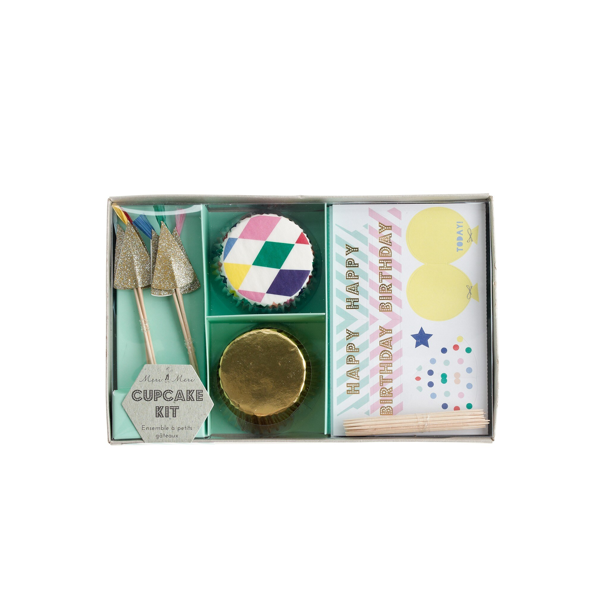 Kids' Meri Meri™ birthday cupcake kit girl j.crew in good company c