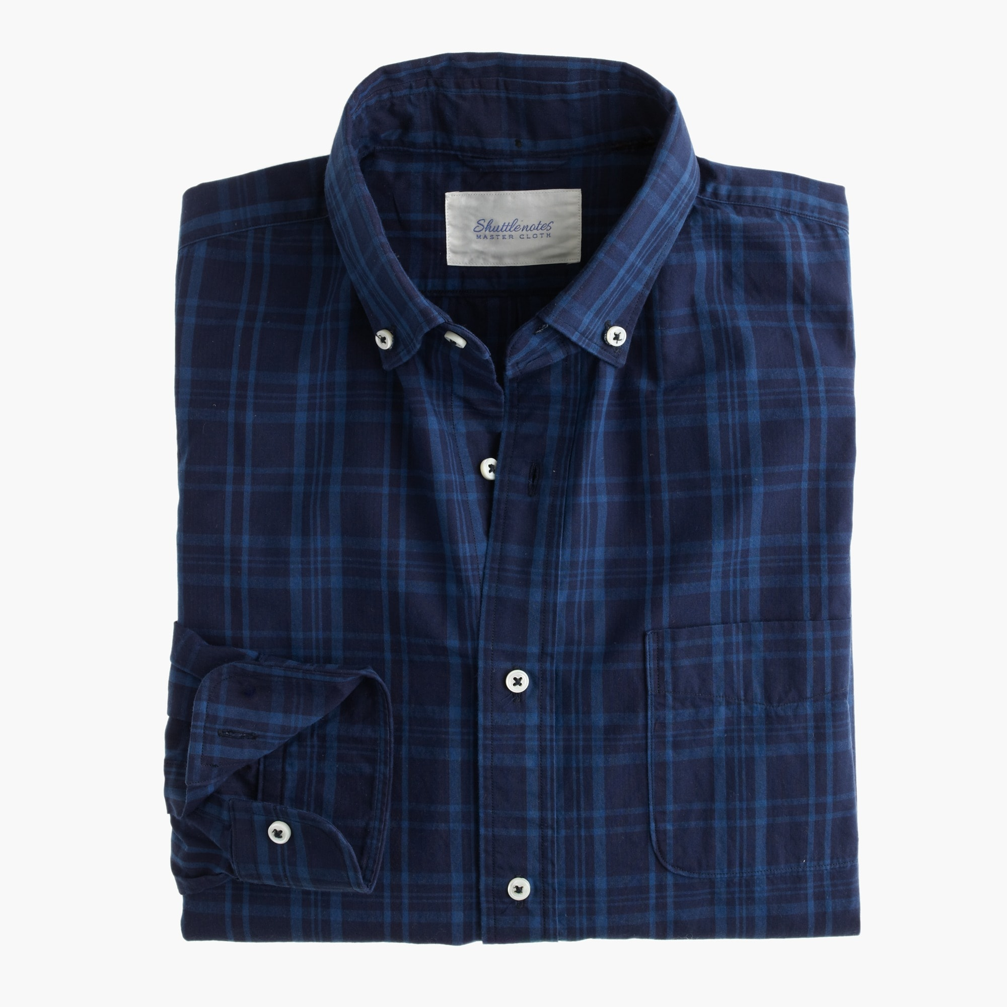 Image 1 for Shuttle Notes® indigo poplin shirt