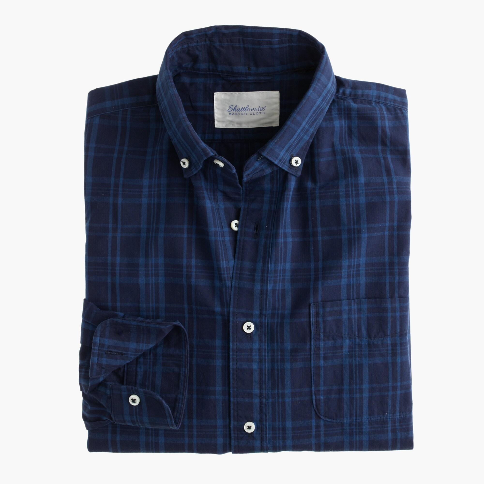 shuttle notes indigo poplin shirt : men's shirts