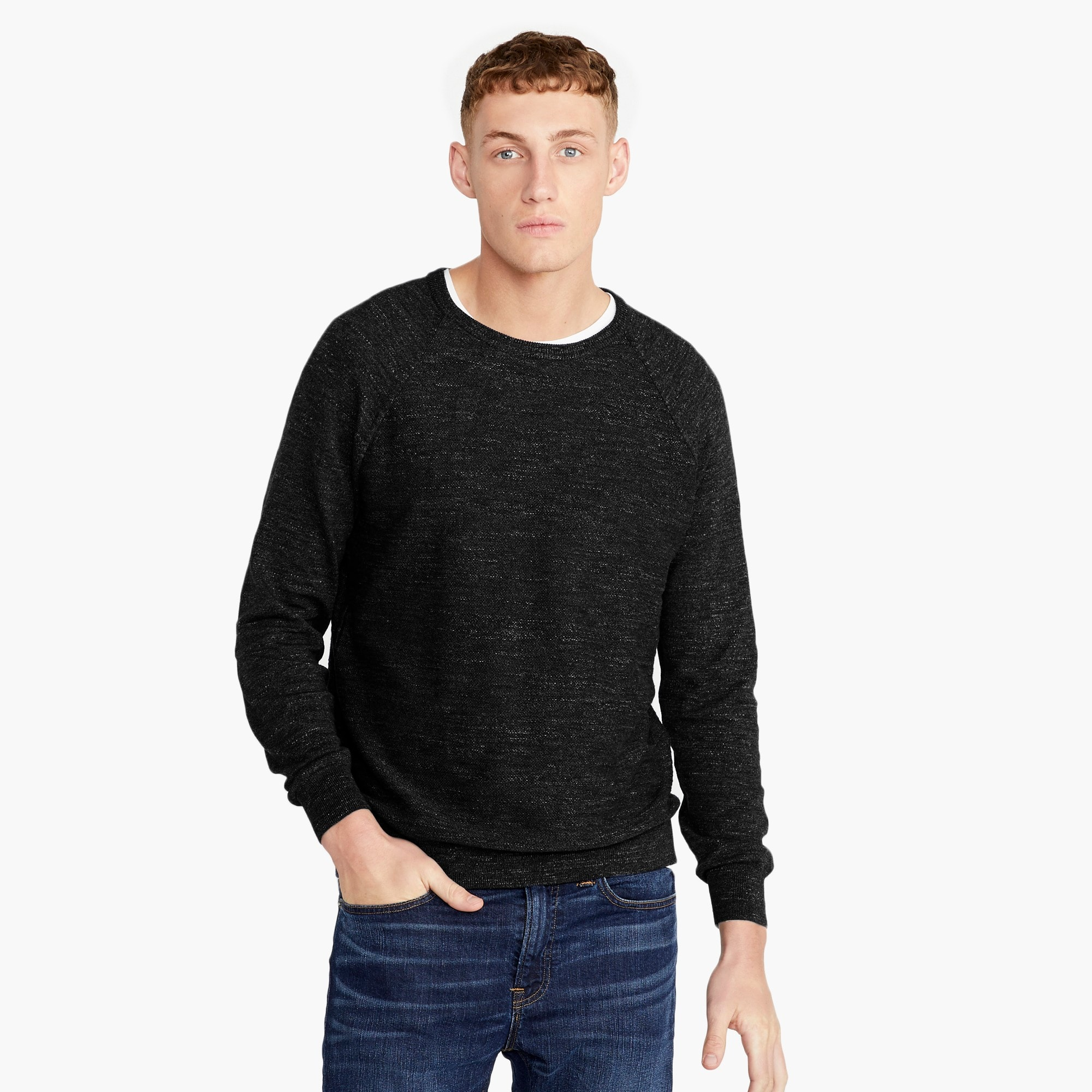 Tall rugged cotton sweater