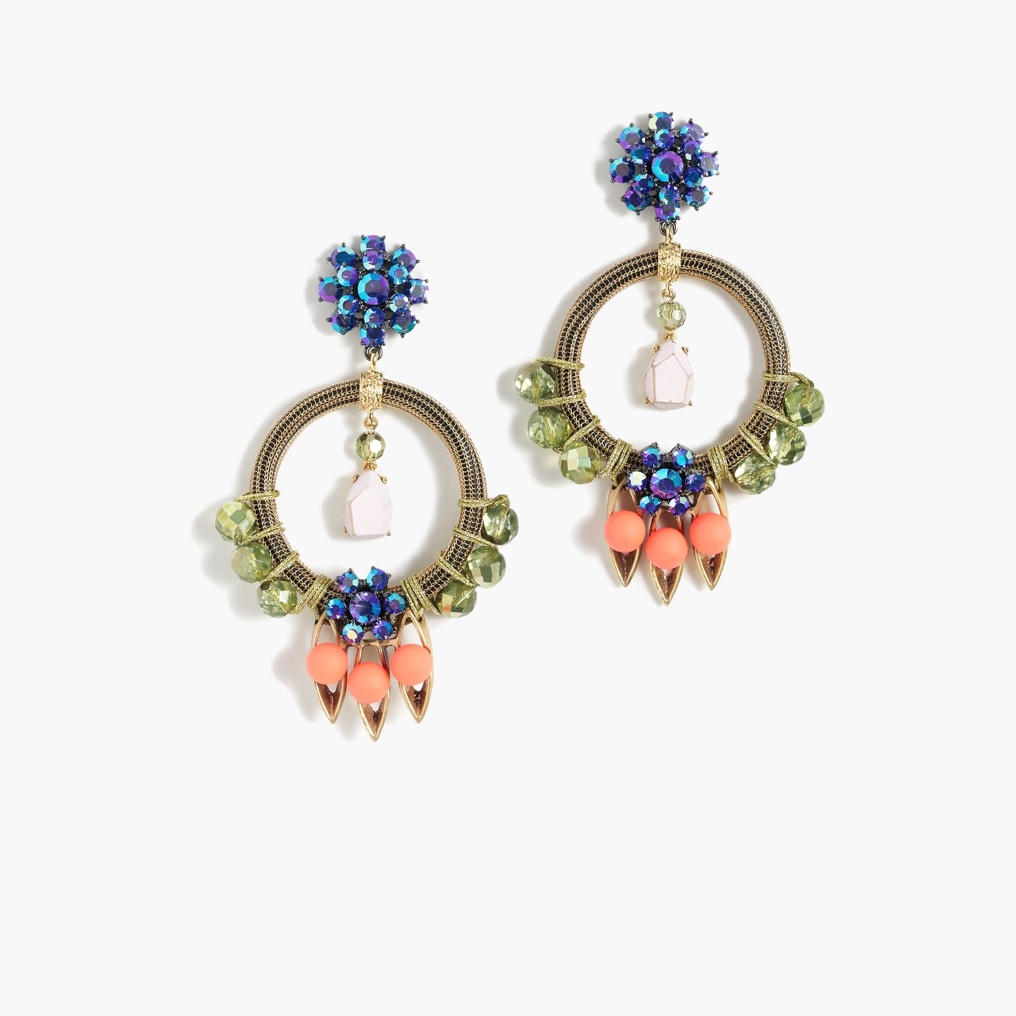 Neon pop statement earrings